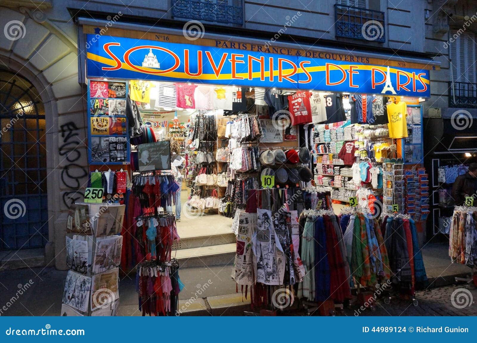 Magasin de souvenir paris image stock ditorial image - Magasin de the paris ...