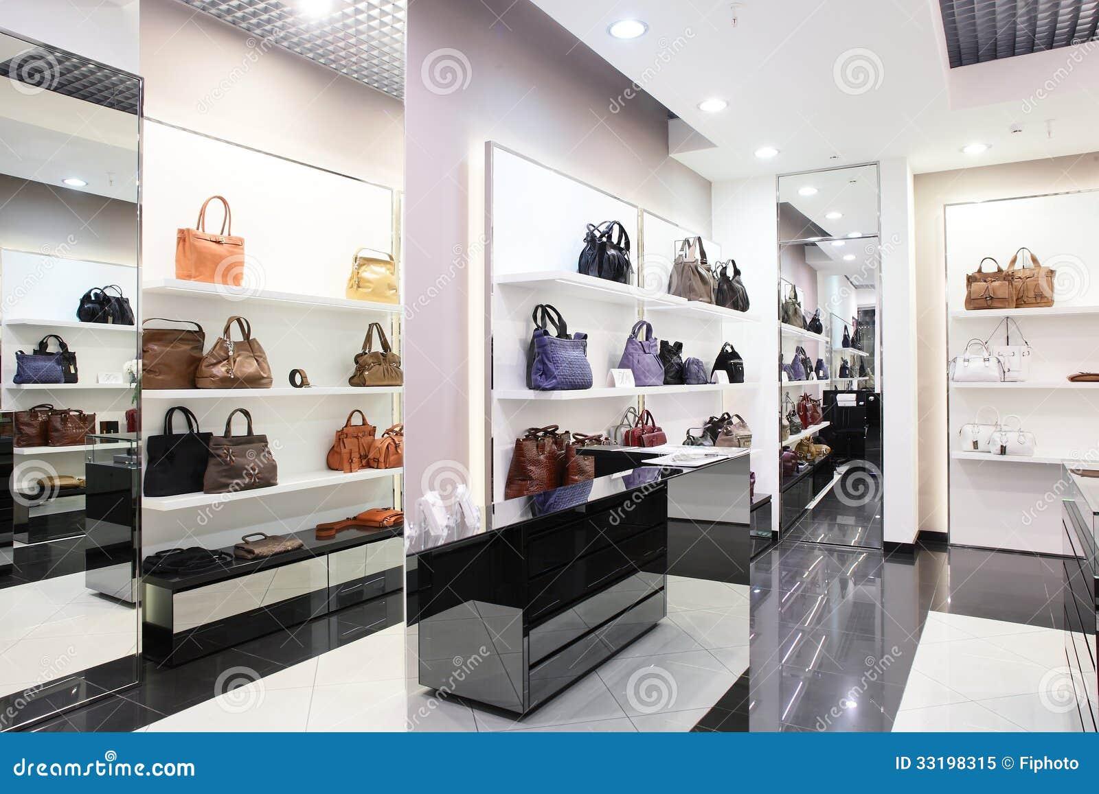 magasin europ en de luxe de sac image stock image du bureau boutique 33198315. Black Bedroom Furniture Sets. Home Design Ideas