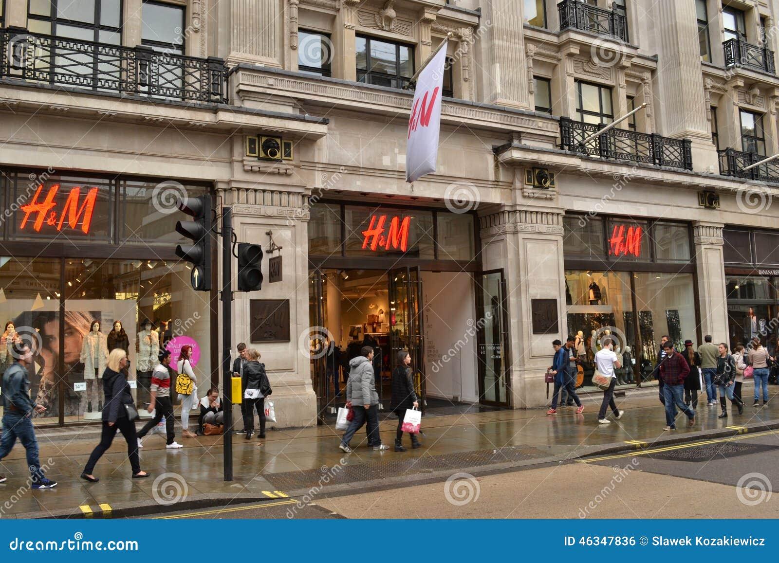 magasin regent street london de h m photo ditorial image 46347836. Black Bedroom Furniture Sets. Home Design Ideas