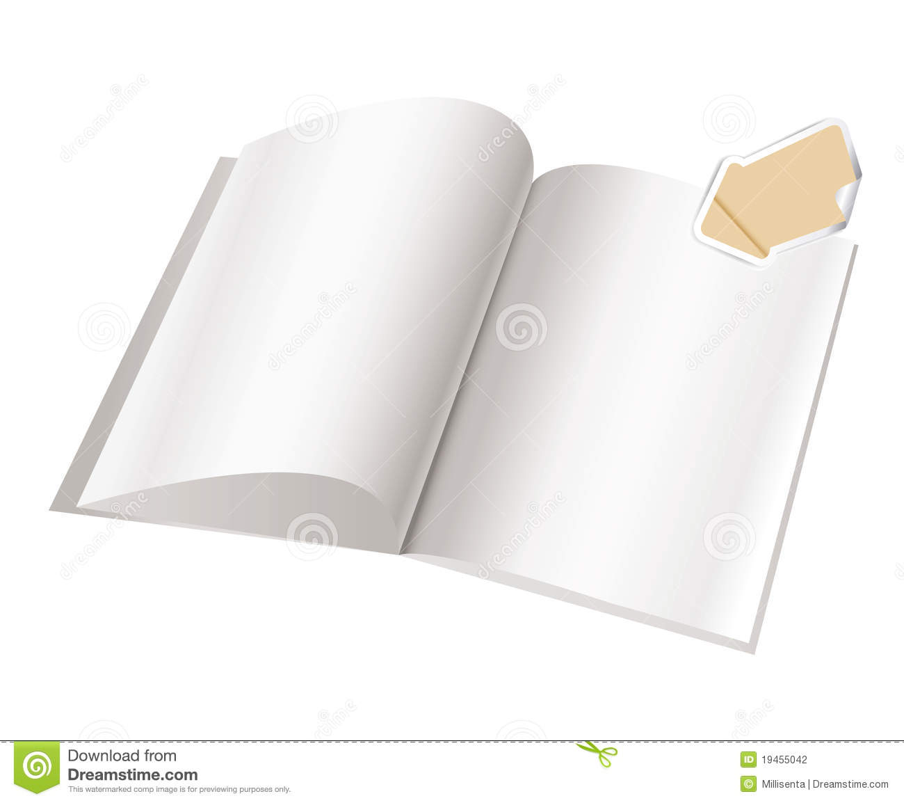 Magazine Blank Page Template For Design Stock Vector Illustration