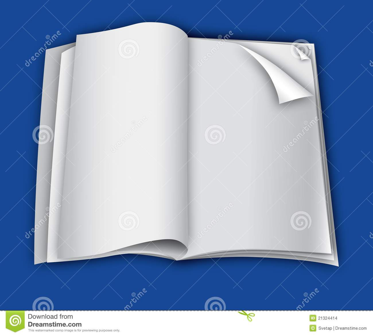 magazine blank page template for design layout stock vector