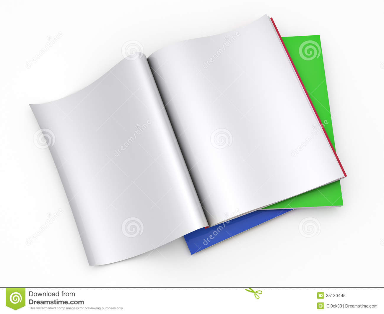 Magazine Blank Page Template Stock Illustration Illustration Of
