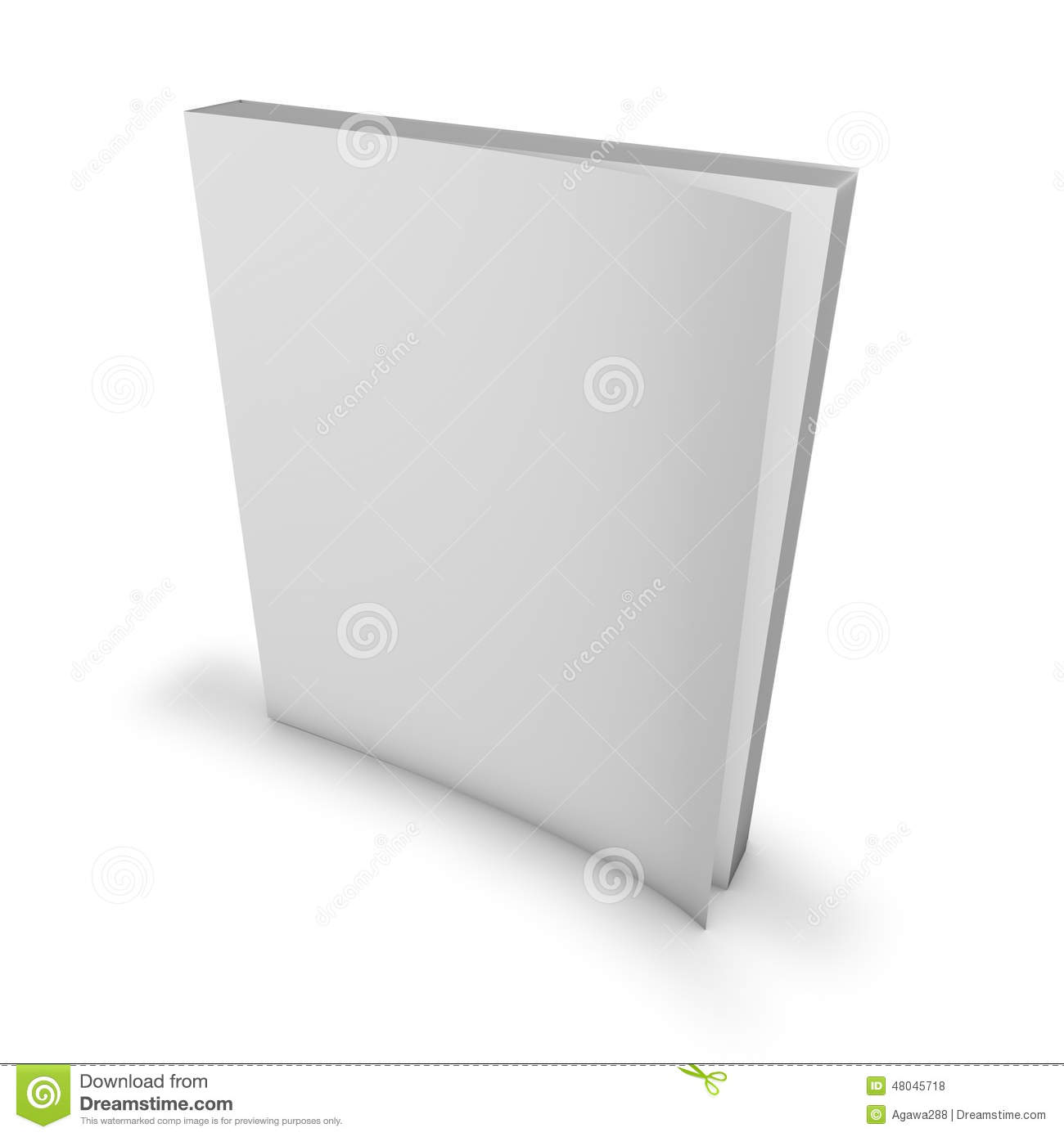 Magazine, Catalog Blank Cover, Mock Up. Stock Illustration ... 3d Paperback Book Cover Template