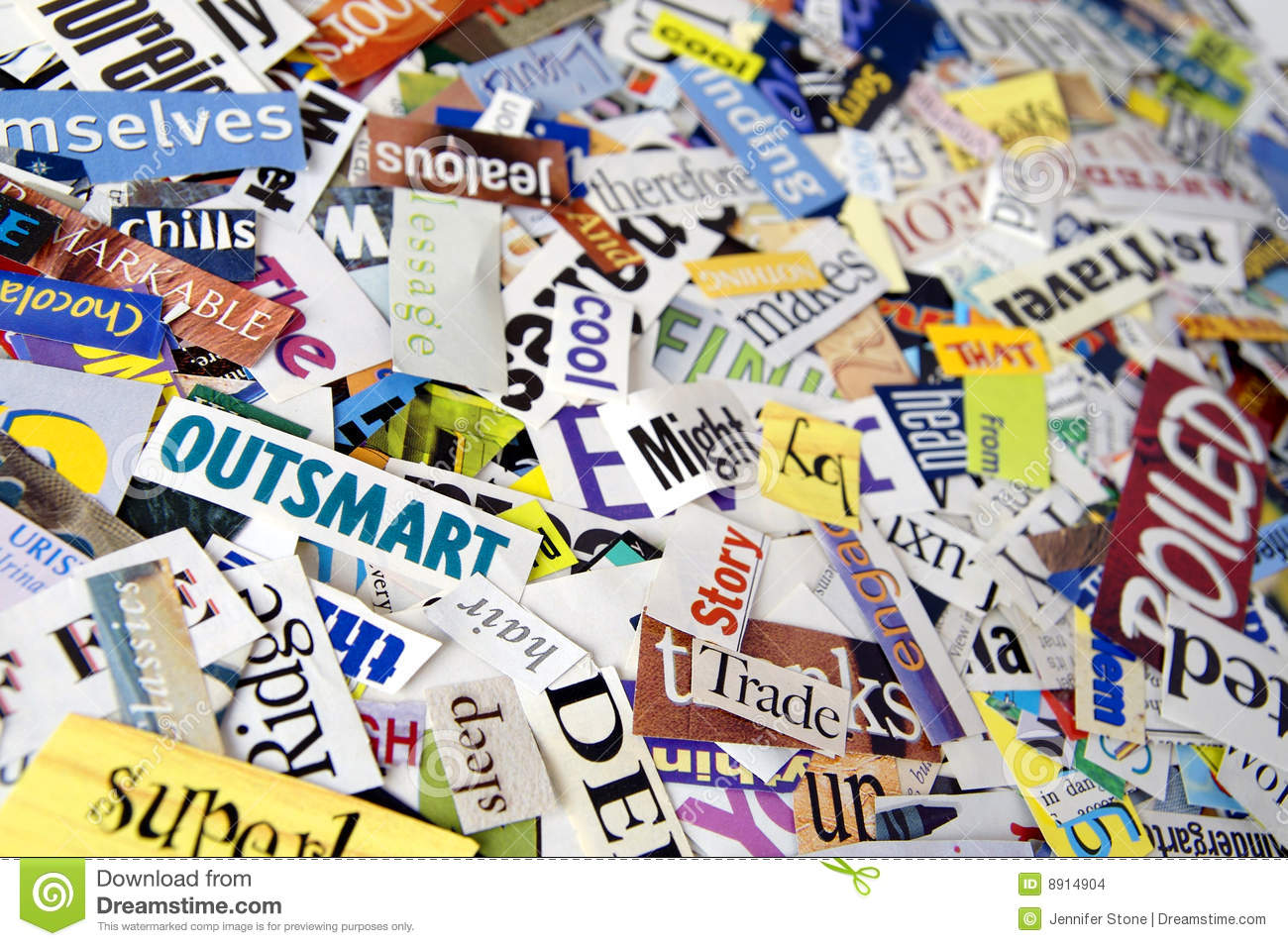 Magazine word background stock photography image 12291482 -  6 Words Clipped From Magazines Arranged In An Attractive Background
