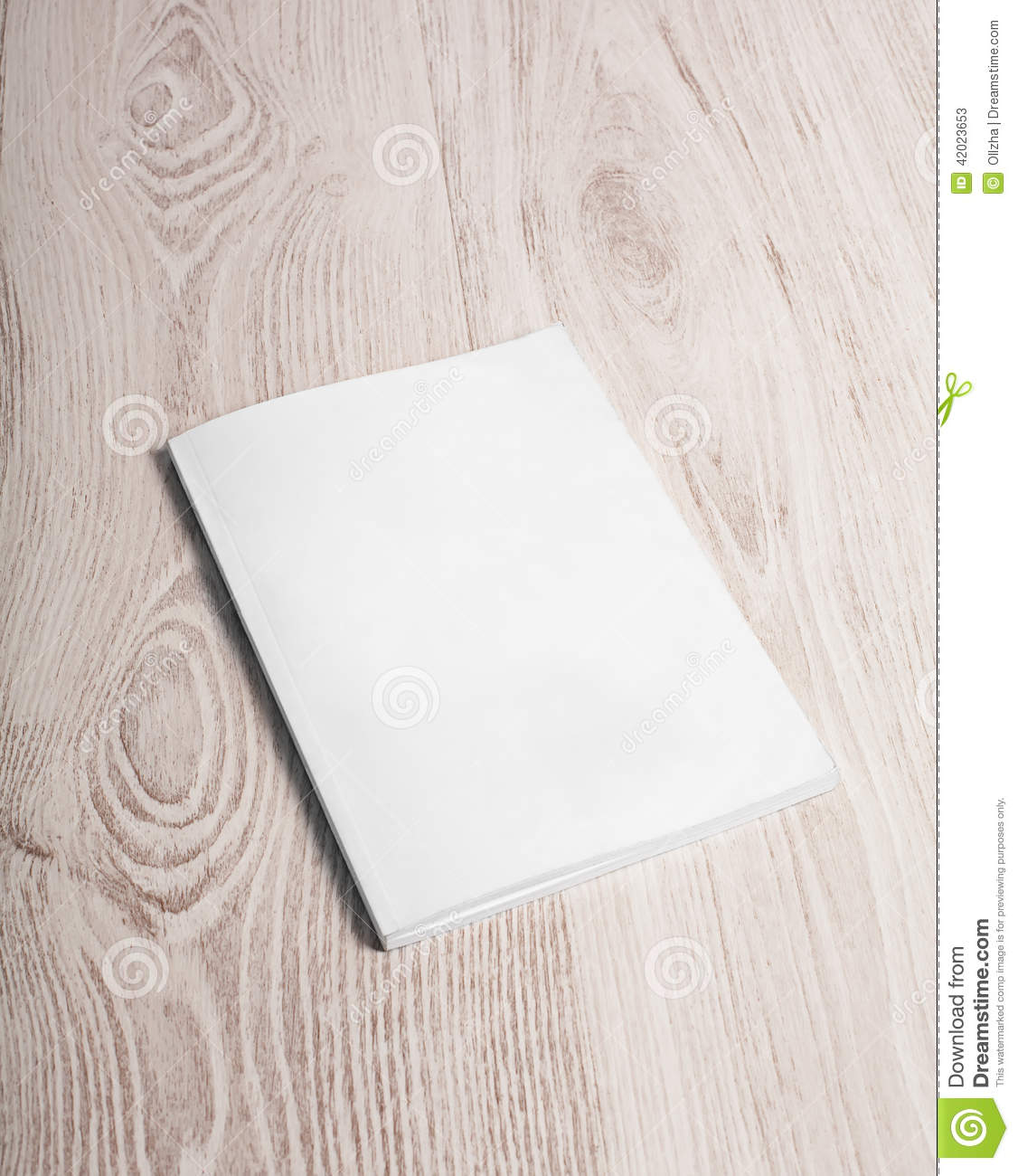 magazine cover with blank page stock image