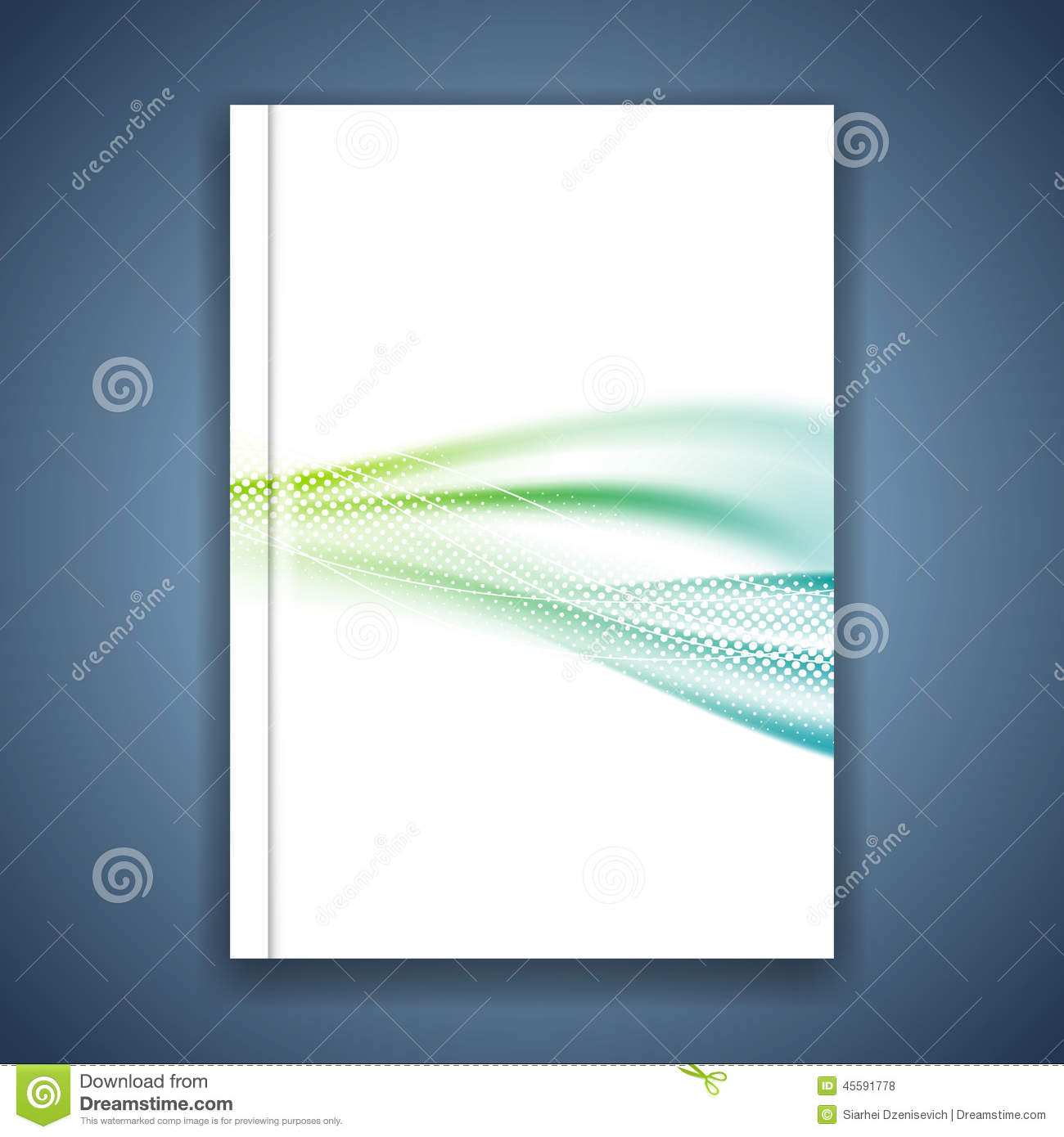 magazine cover brochure design background stock vector