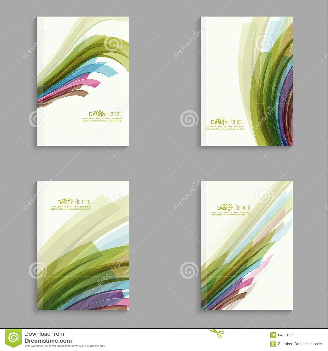 Magazine Cover With Colored Crystals Stock Vector