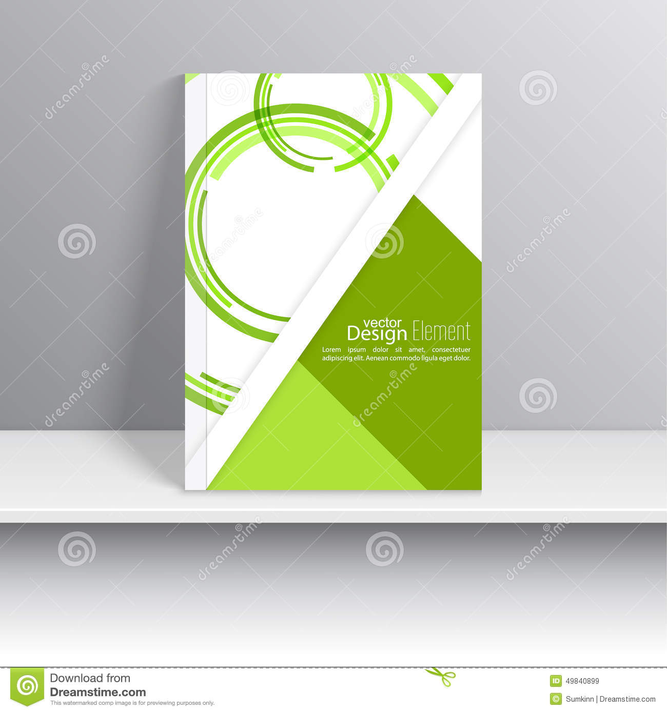 Cookbook With Green Cover : Magazine cover stock vector image