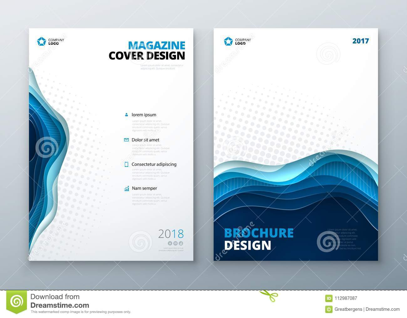 Magazine Design Template Paper Carve Abstract Cover For Brochure Flyer Magazine Annual Report Or Catalog Design Stock Vector Illustration Of Creative Banner 112987087