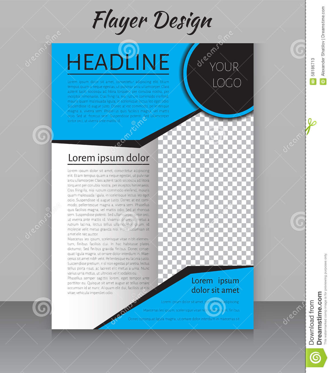Magazine, Flyer, Brochure And Cover Layout Design Print Template