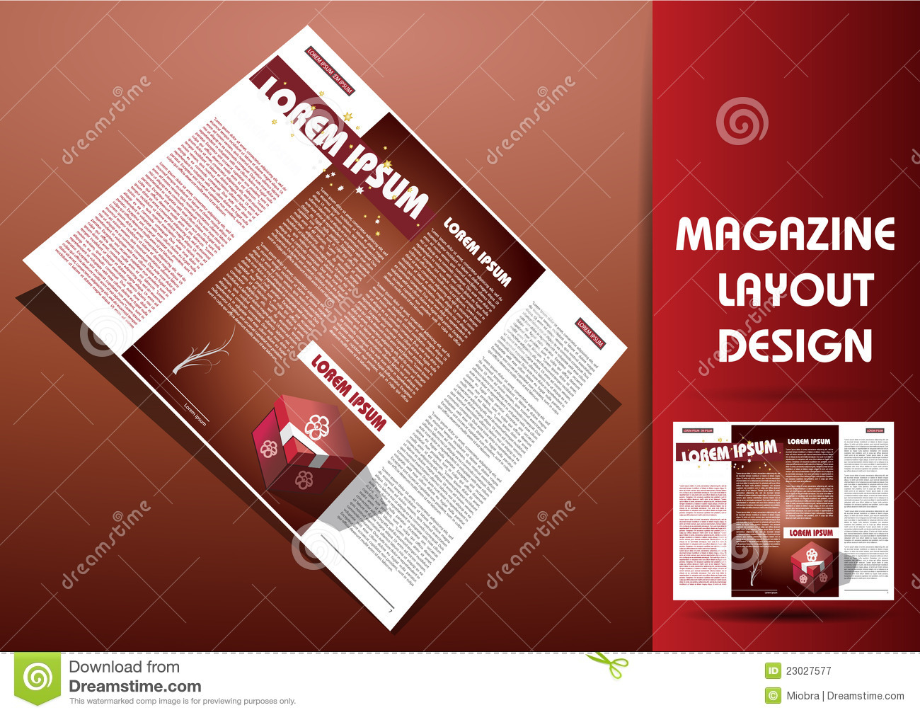 Magazine Illustration Design Layout Royalty Free Stock Photography ...