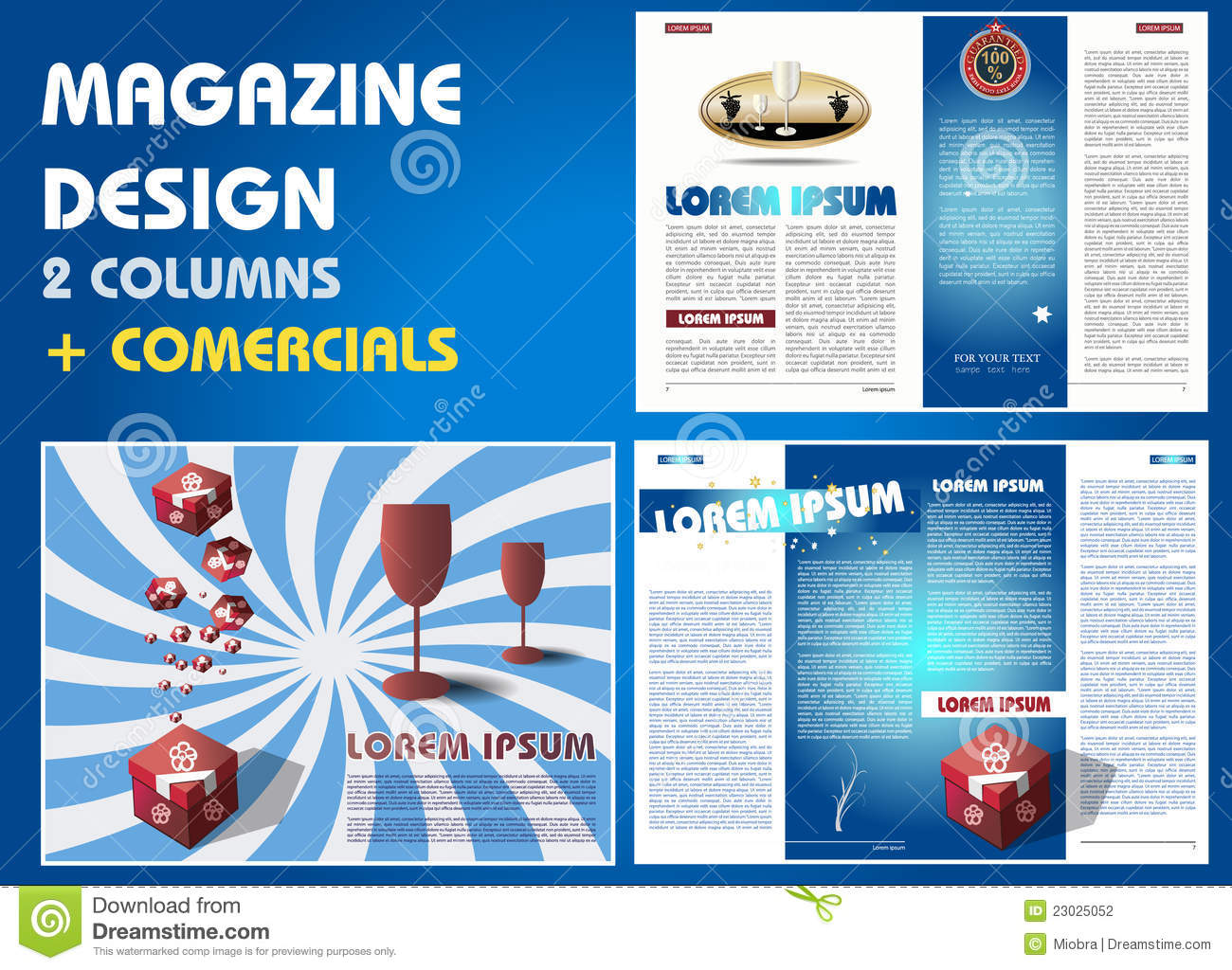 Magazine Layout With Commercials Stock Photography Image