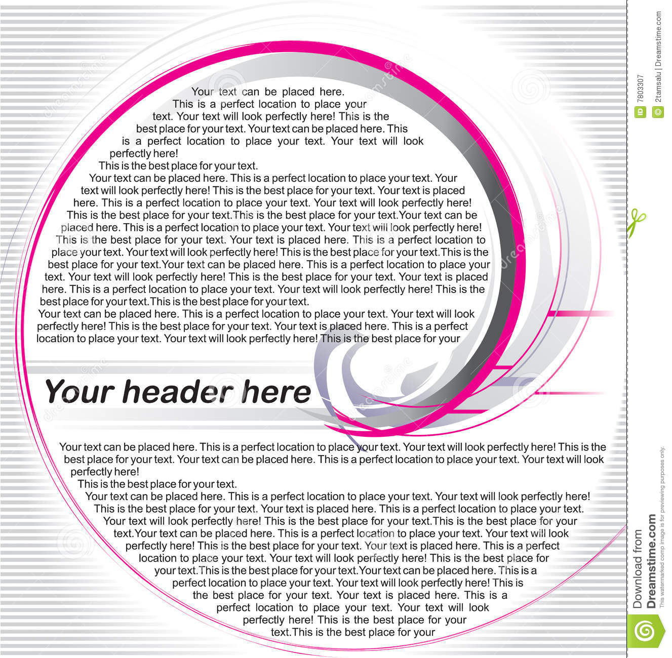 magazine page template stock vector illustration of pink 7803307