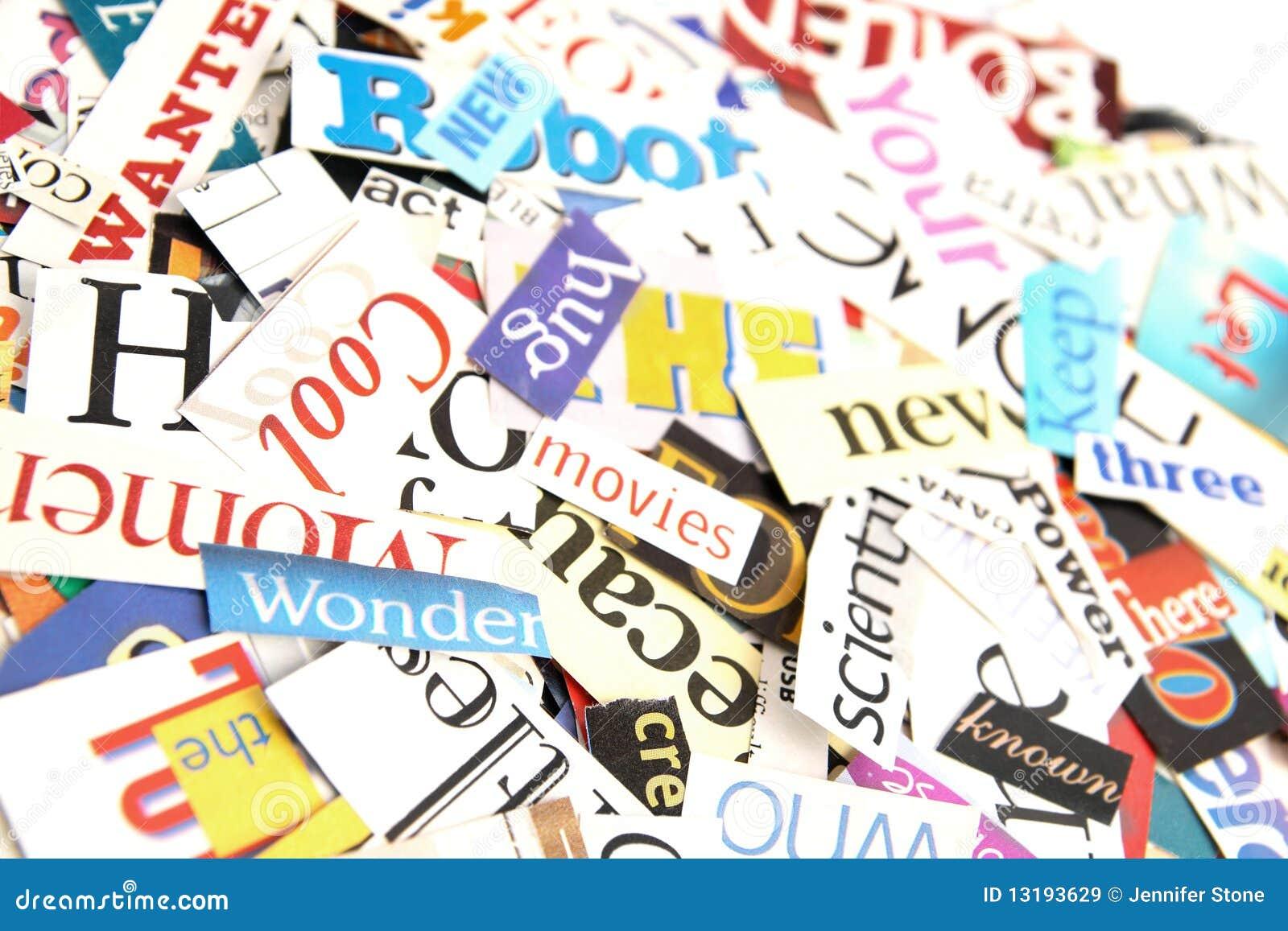 Magazine Word Background Stock Image Image Of Magazine