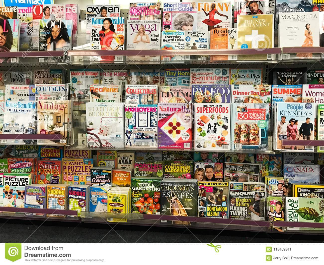 41c2a2e2fe Magazines for just about every interest are on display at a local chain  store.