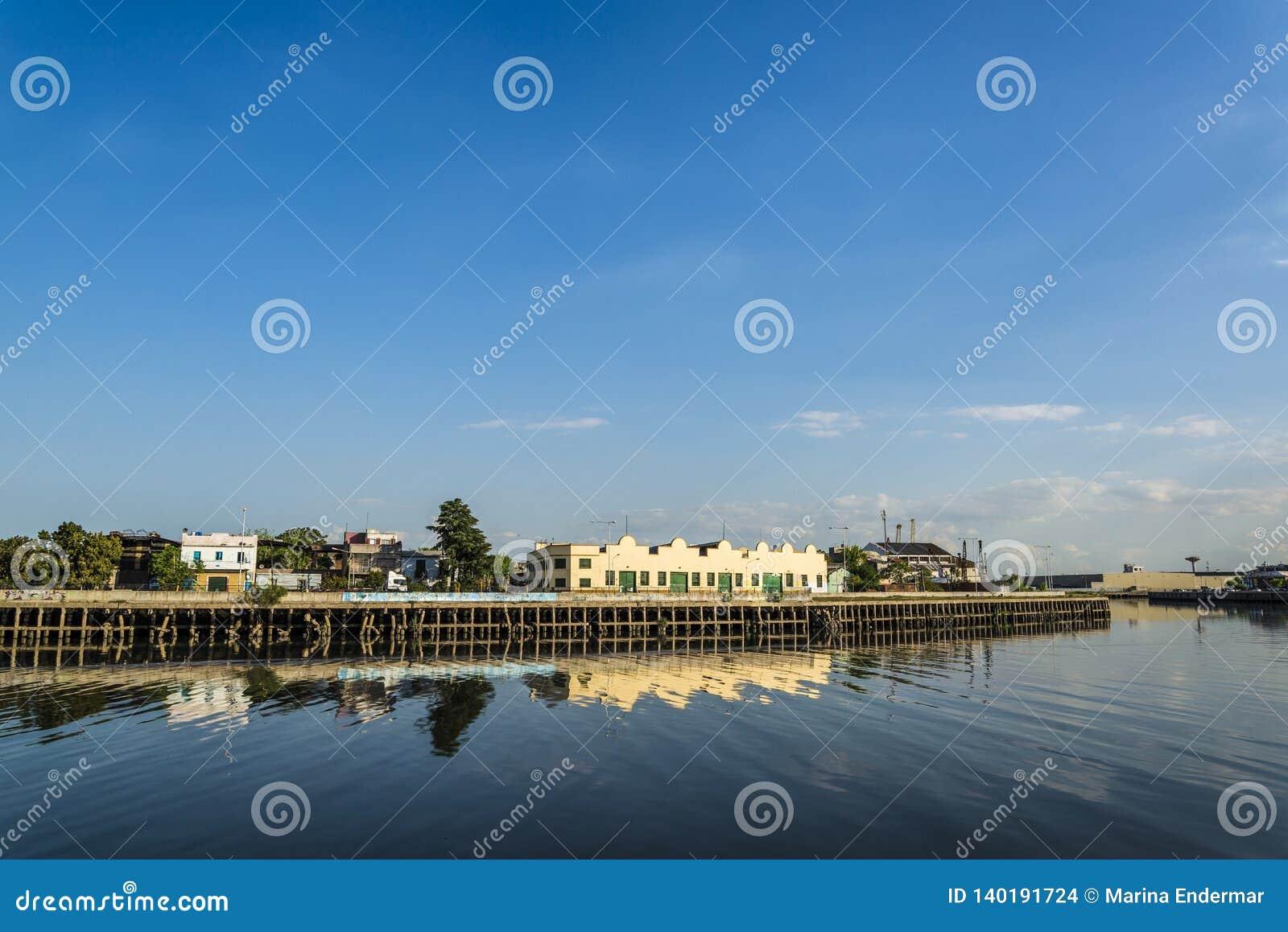 Magazzini, porto di Boca della La, Buenos Aires, Argentina