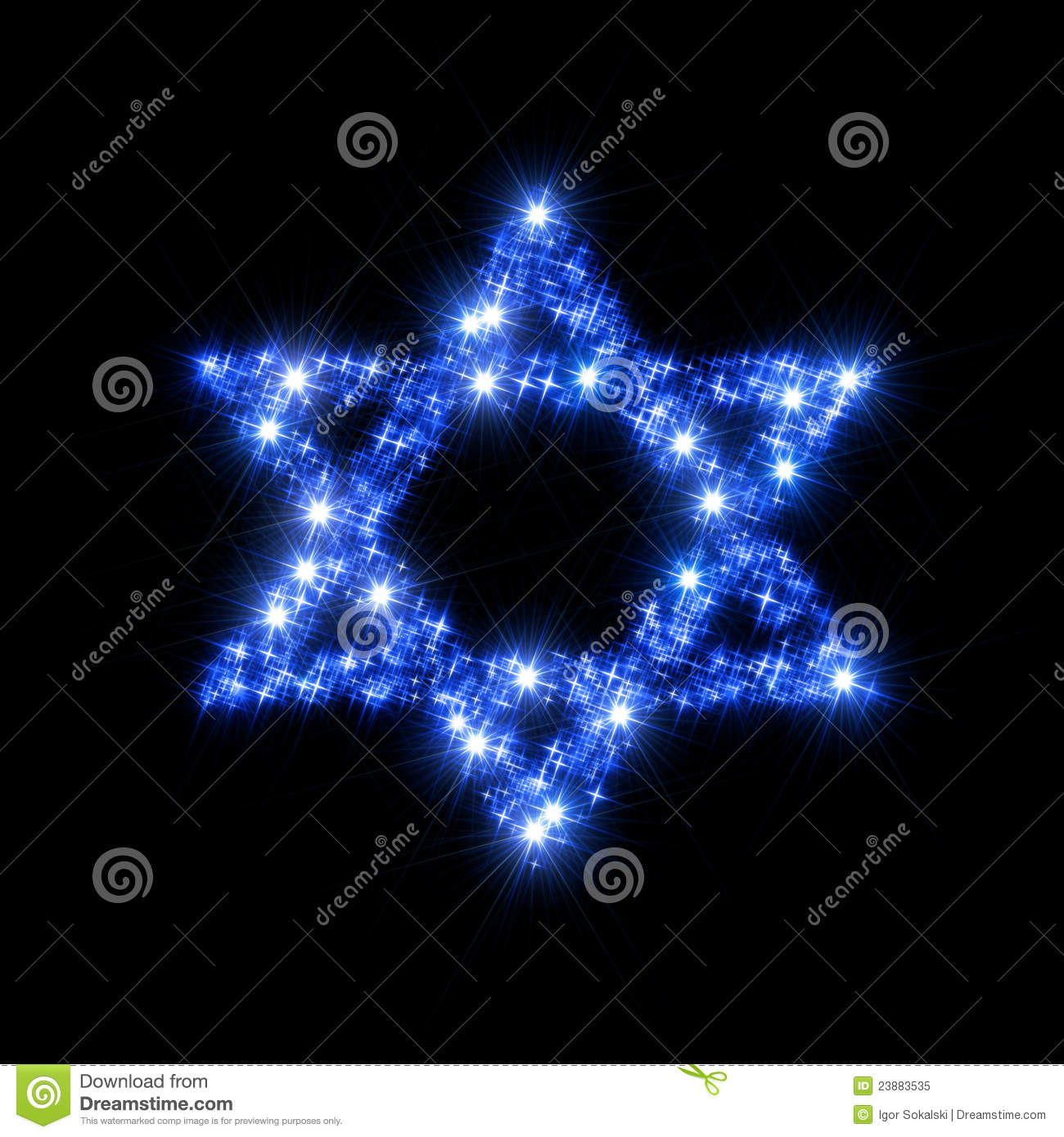 Abstract illustration representing decorative David Star (Magen David ...