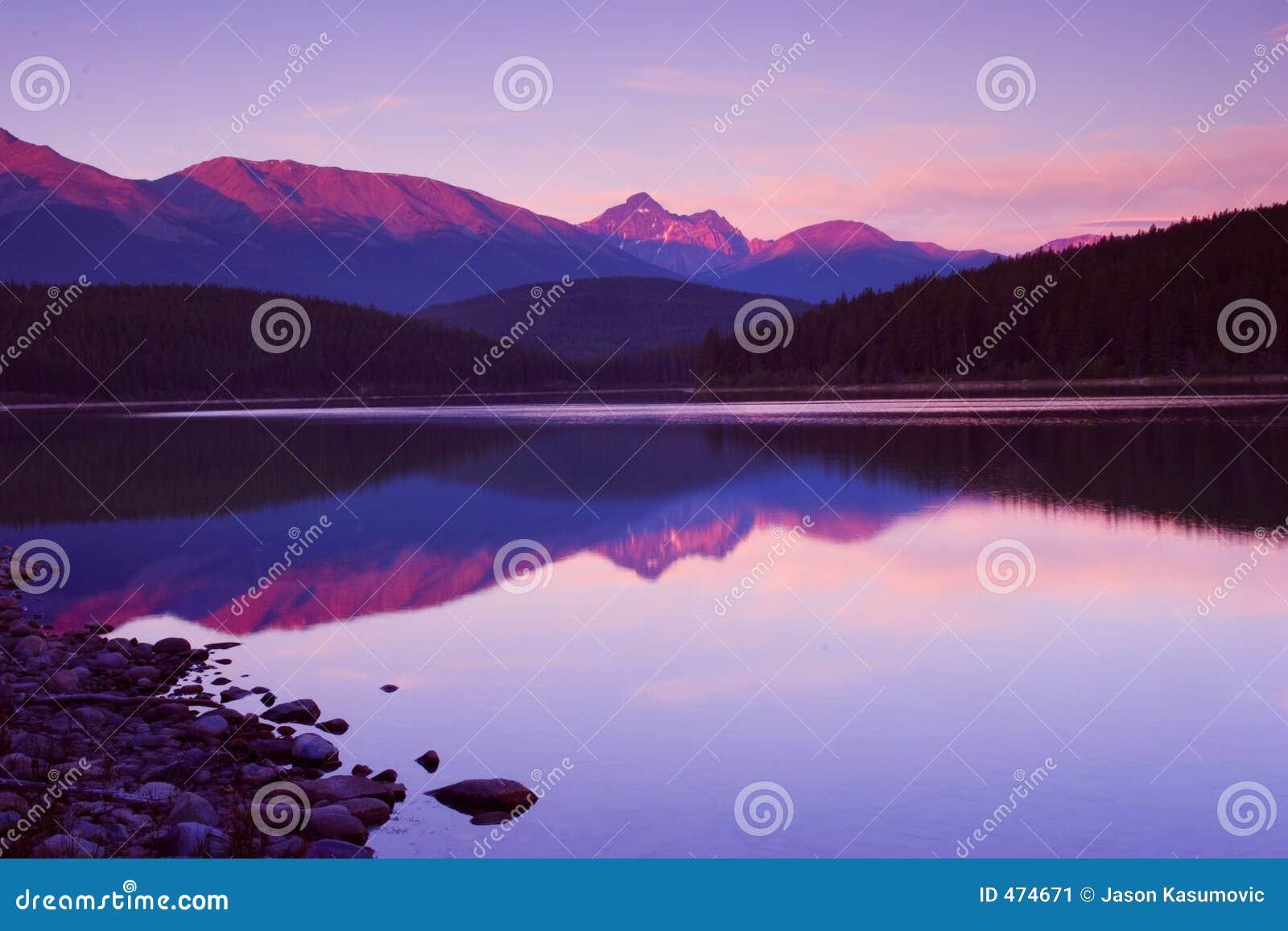 Download Magenta Skies stock image. Image of peaks, beautiful, trees - 474671
