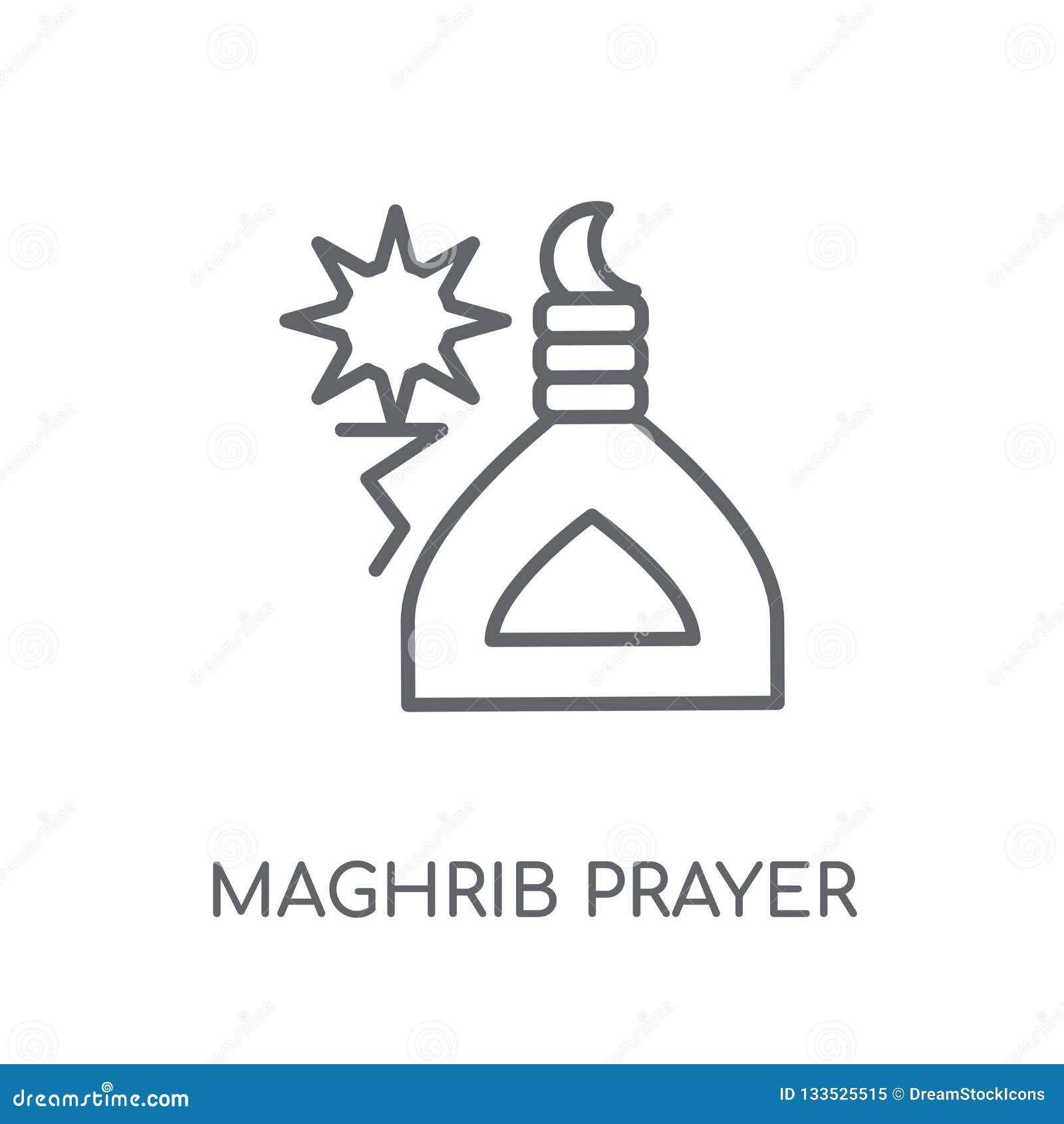 Maghrib Prayer Linear Icon  Modern Outline Maghrib Prayer Logo C