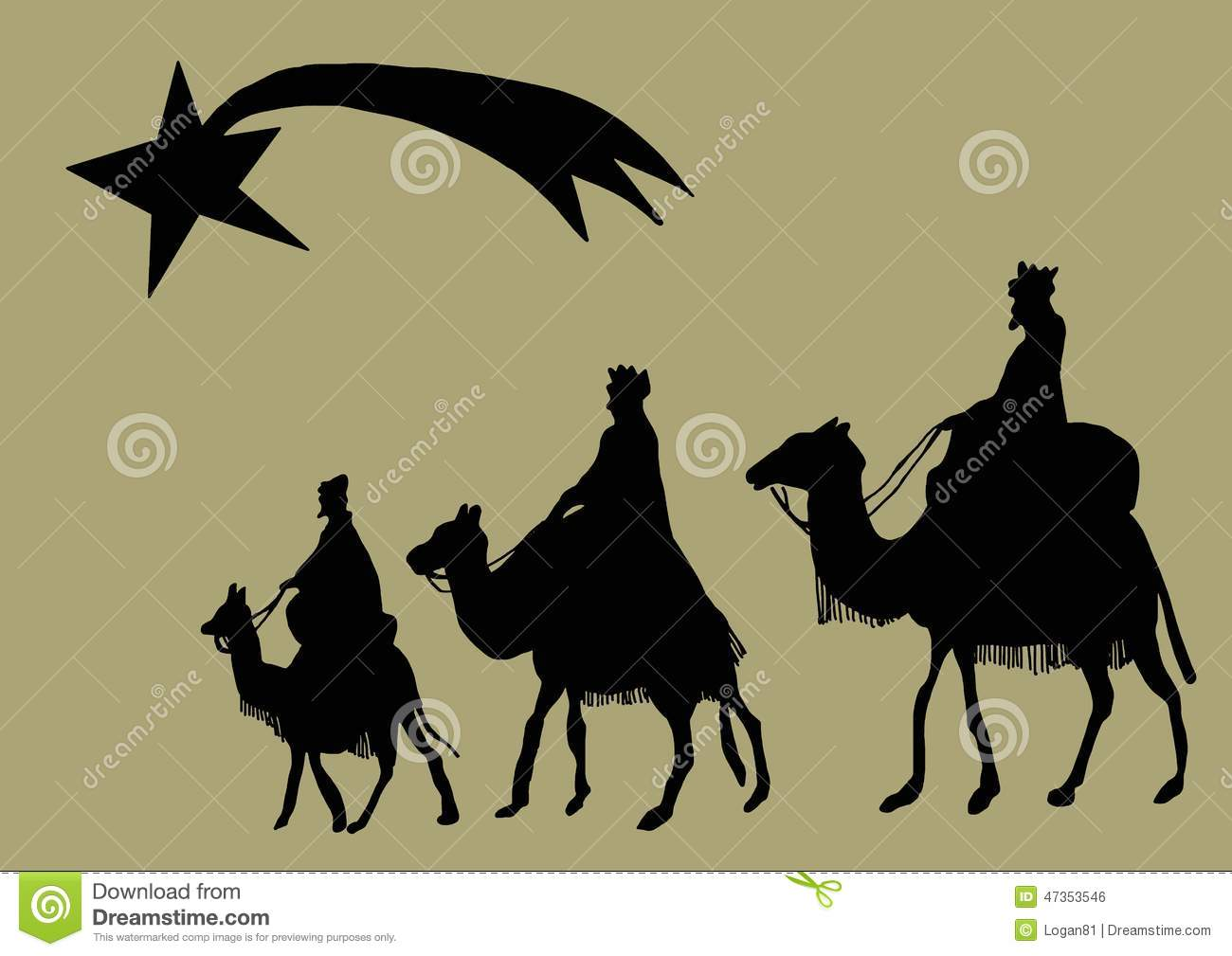 Magi Silhouette Stock Illustration - Image: 47353546