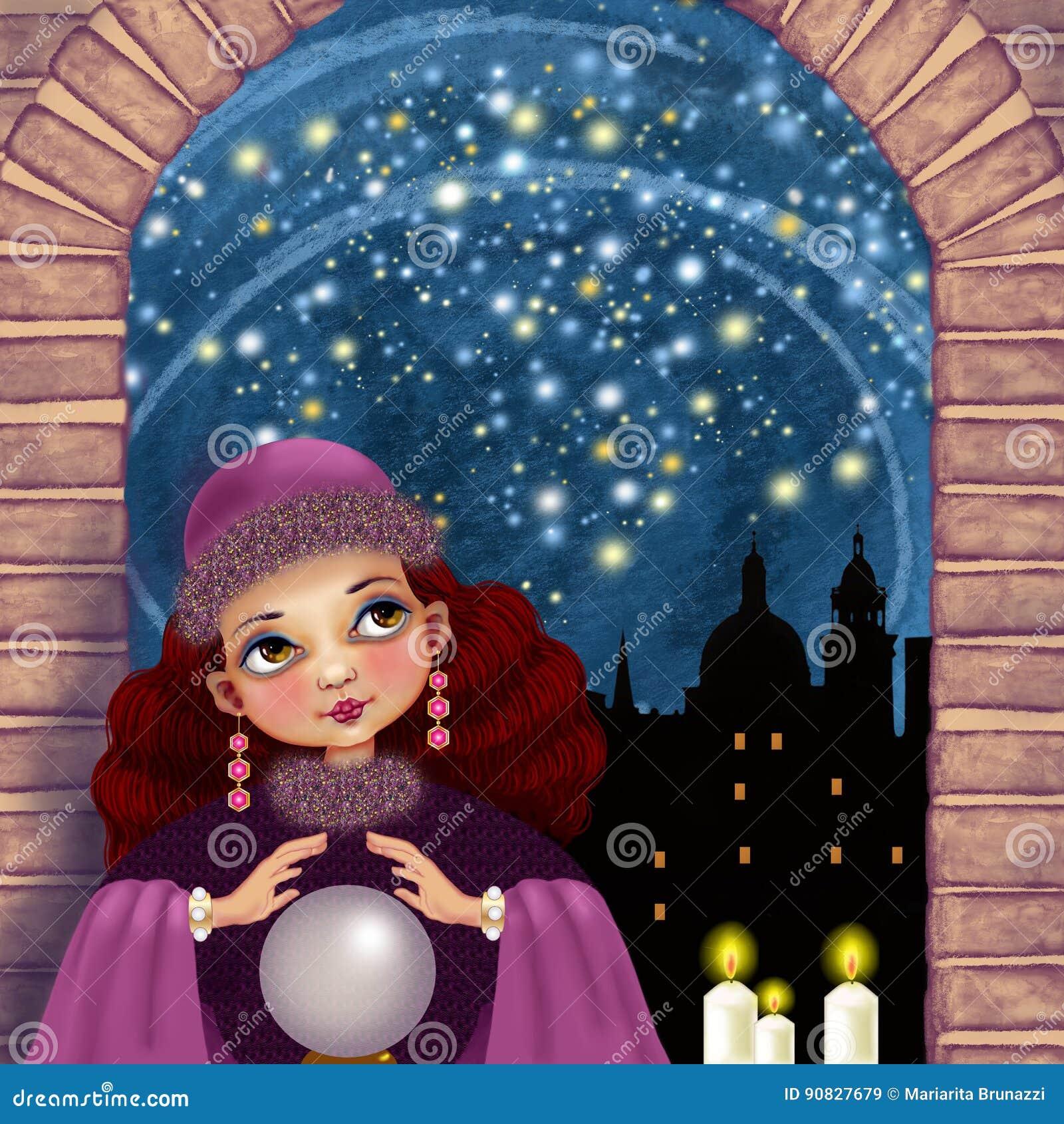 Magia gwiaździsta noc