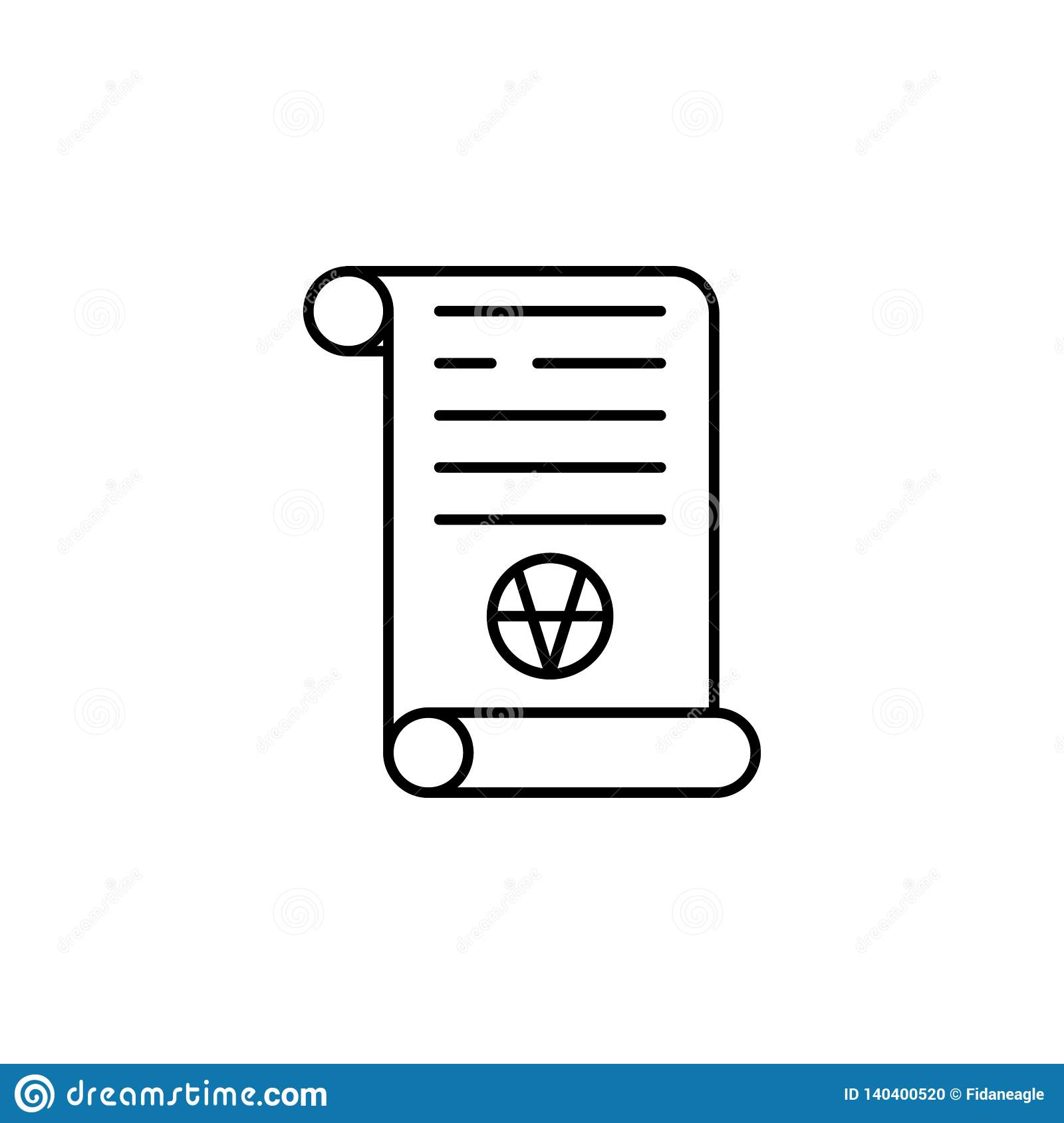 Magic art scroll outline icon. Signs and symbols can be used for web, logo, mobile app, UI, UX