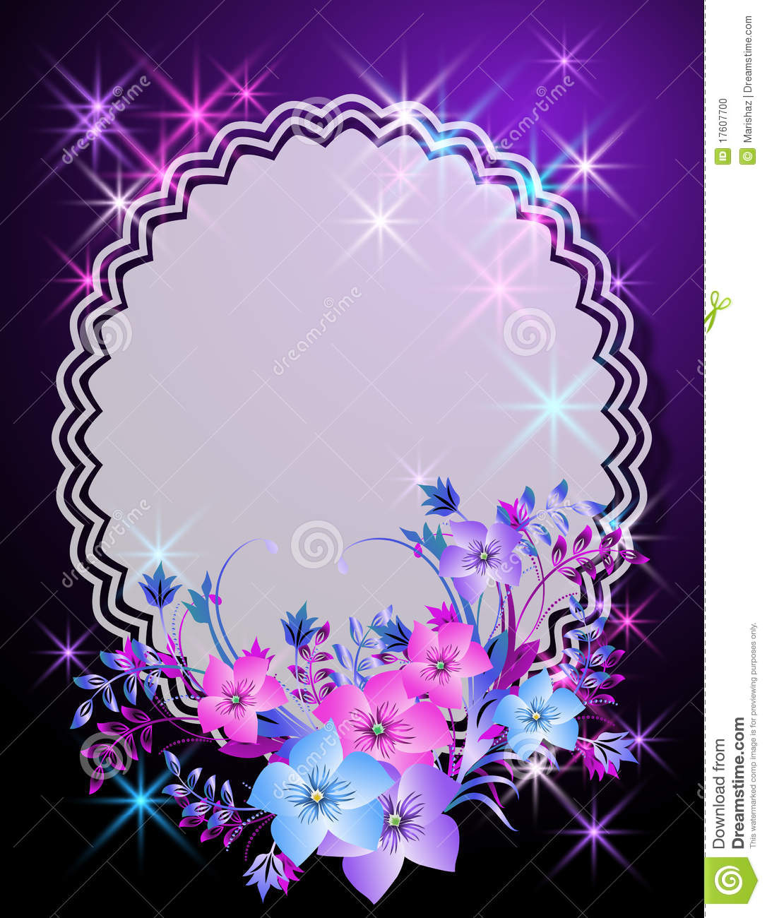 Magic Background With Flowers And Napkin Stock Photo