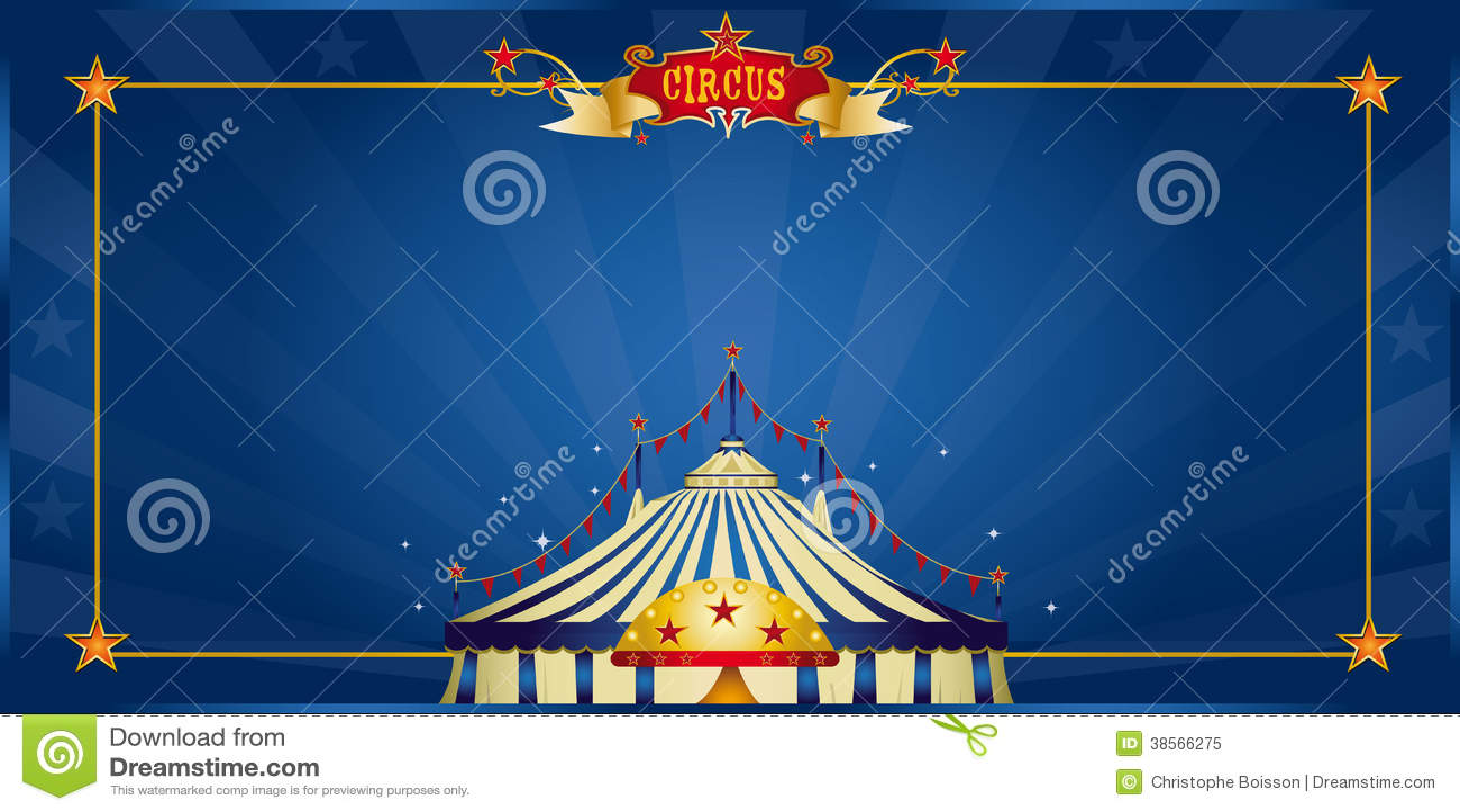 magic blue circus invitation royalty free stock photo. Black Bedroom Furniture Sets. Home Design Ideas