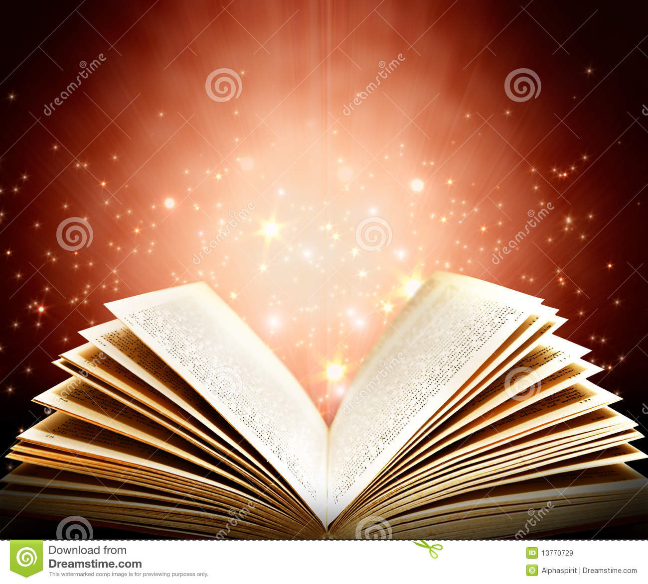 Magic book stock image. Image of turning, spark, mystery