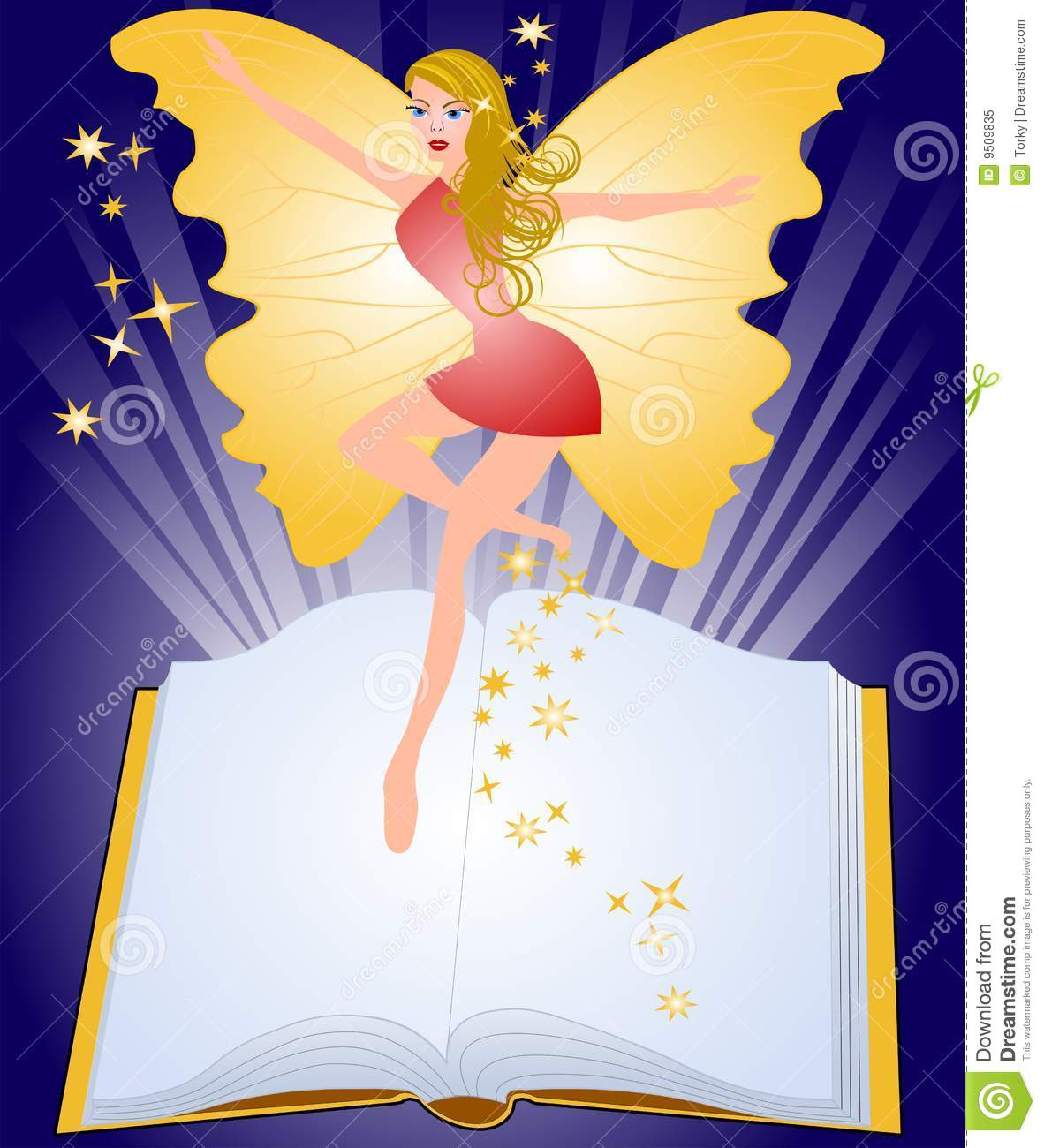 Blank fairy tale book cover royalty free stock photography for Fairy tale book cover template