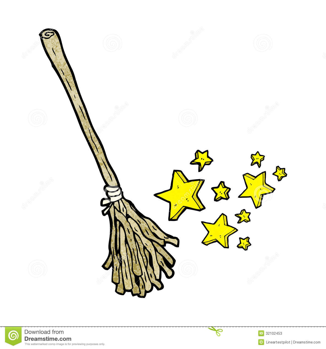 Magic Broom Cartoon Stock Photos - Image: 32102453