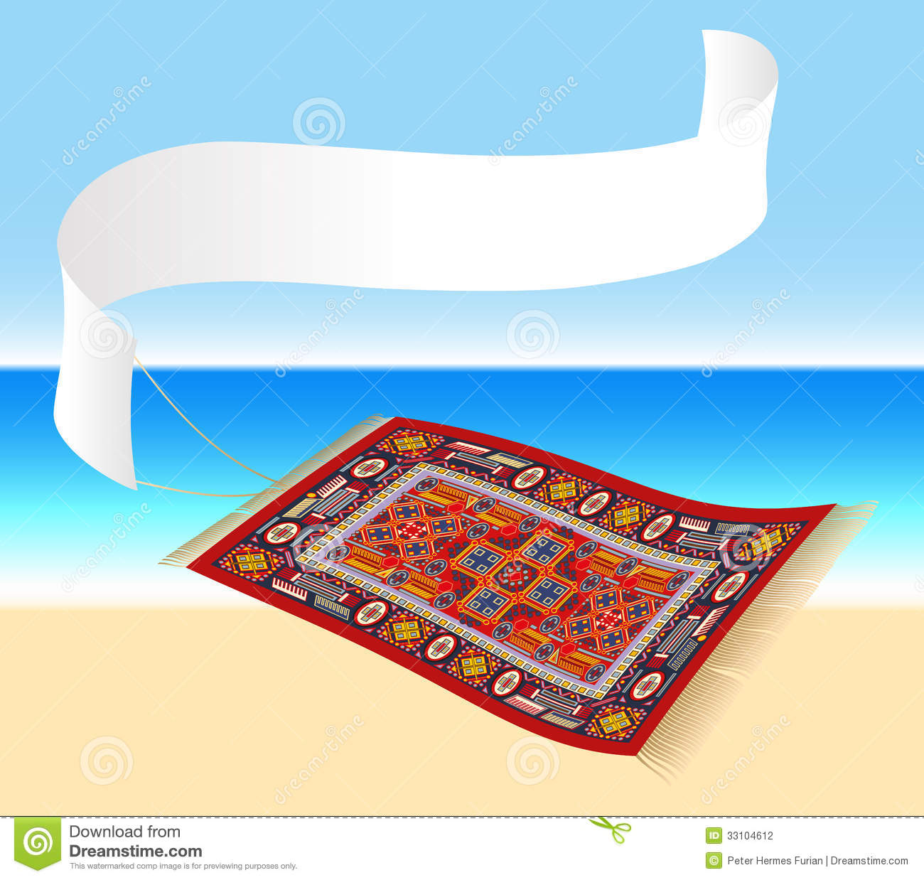 Magic Carpet With Banner Stock Photography Image 33104612