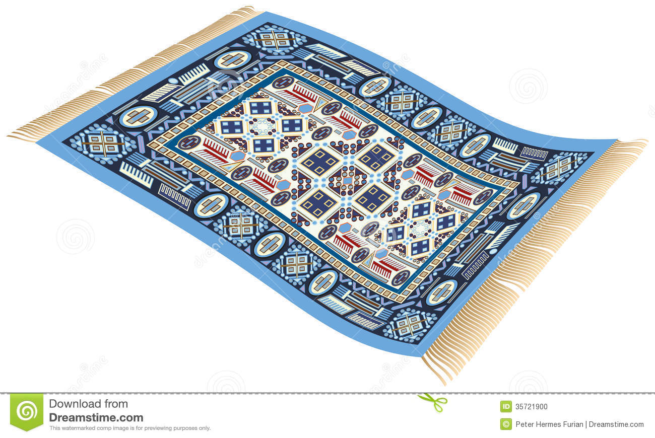 Magic Carpet Blue Stock Photo Image 35721900