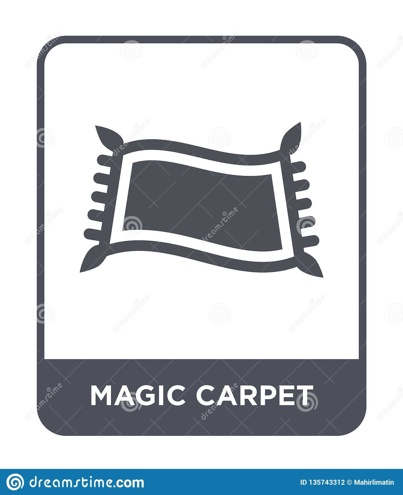 magic carpet icon in trendy design style. magic carpet icon isolated on white background. magic carpet vector icon simple and