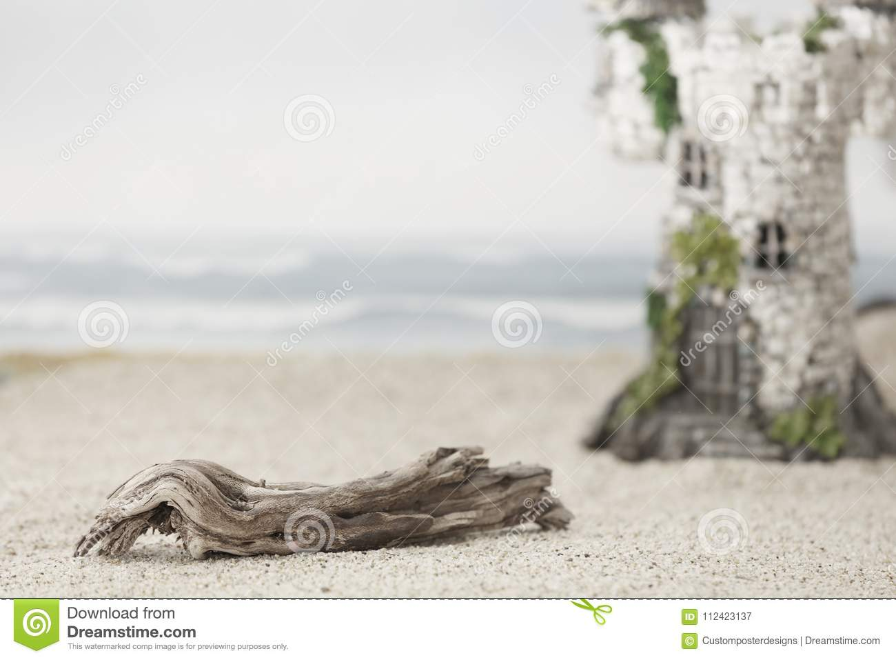 Download A Magic Castle At The Beach. Stock Image - Image of creative, imagination: 112423137