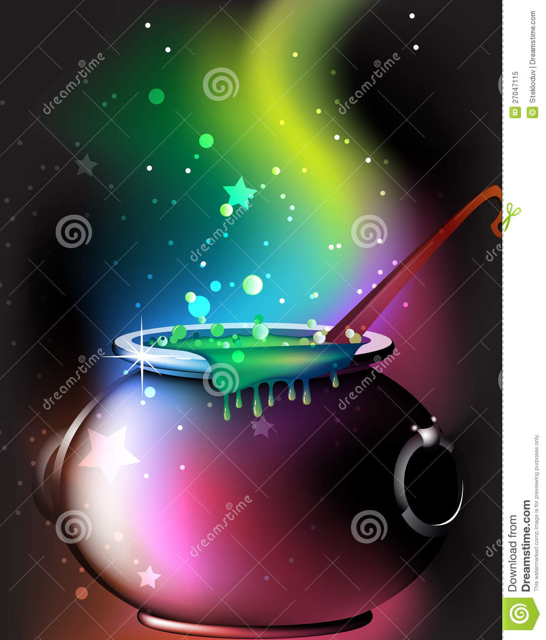Magic Cauldron With A Potion Royalty Free Stock Photo - Image ...