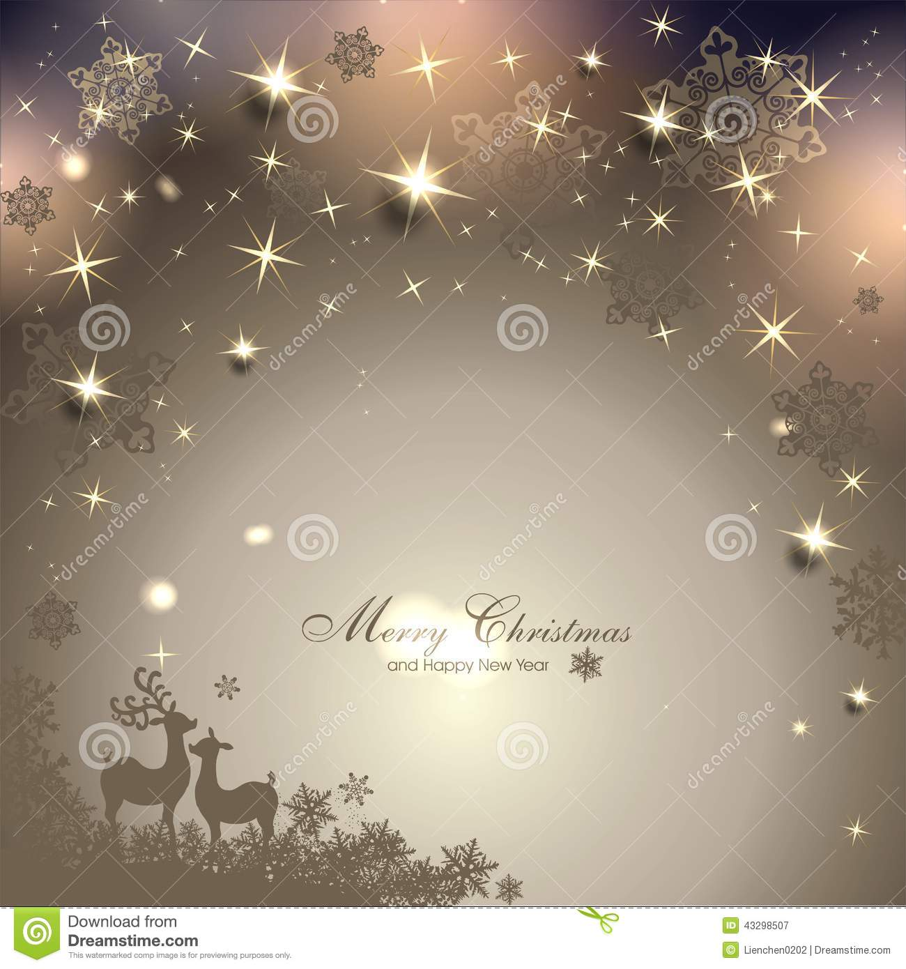 Magic Christmas Background Stock Vector Illustration Of Decoration