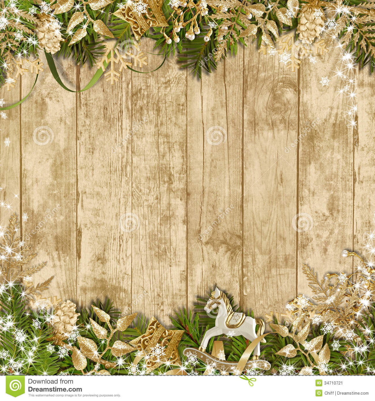 Christmas Decorations Wood Wallpaper