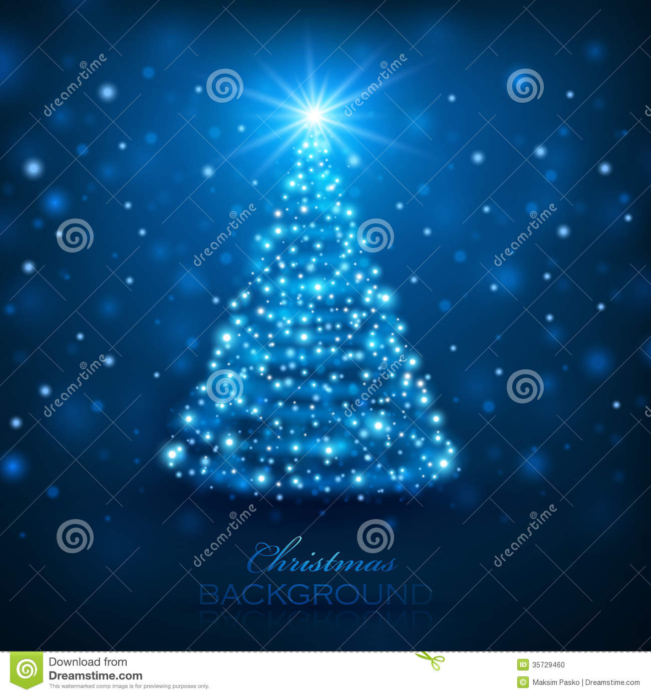 Magic Christmas Tree Stock Photo Image 35729460 - Magic Christmas Tree
