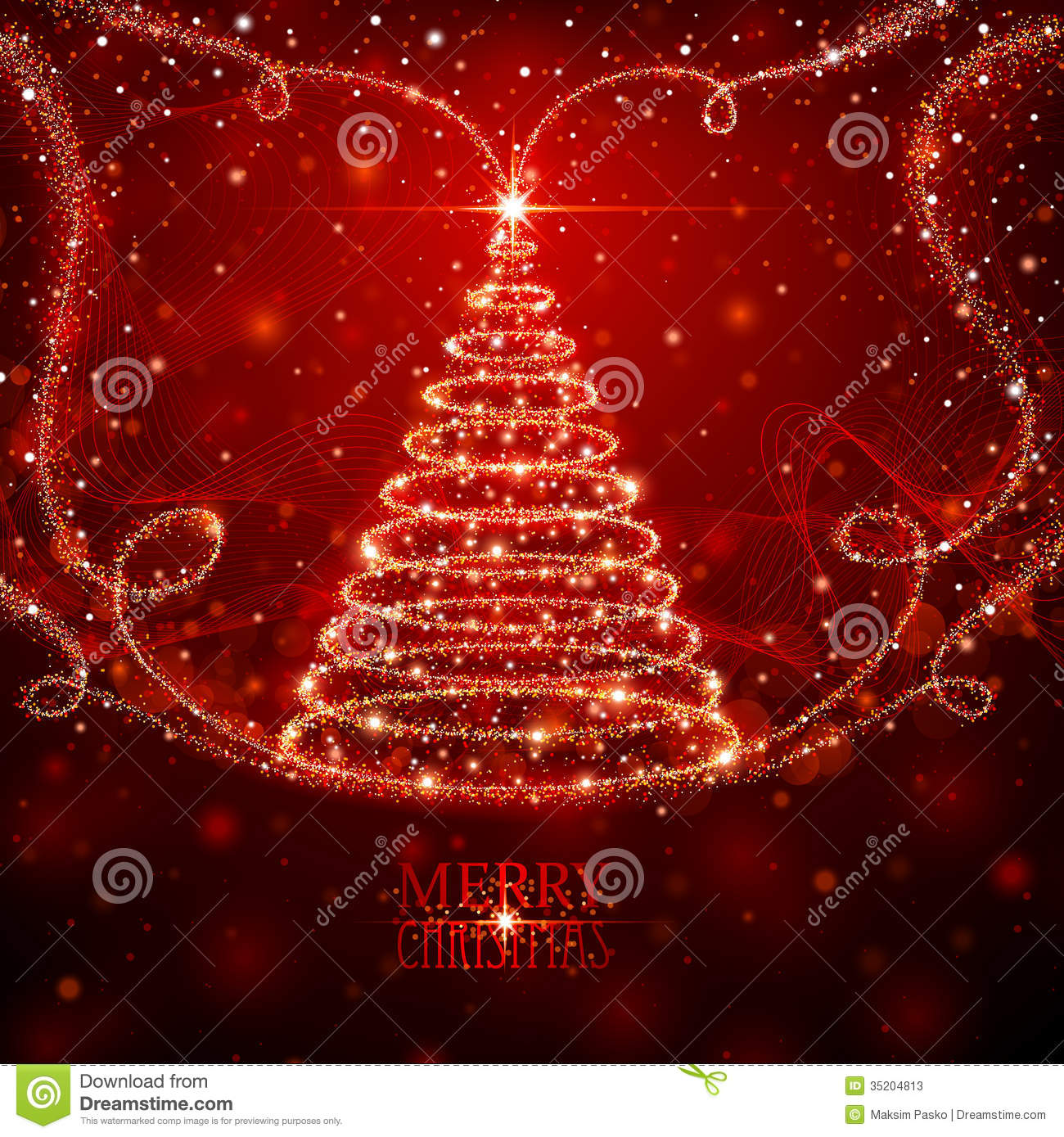 Magic Christmas Tree Stock Photos Image 35204813 - Magic Christmas Tree