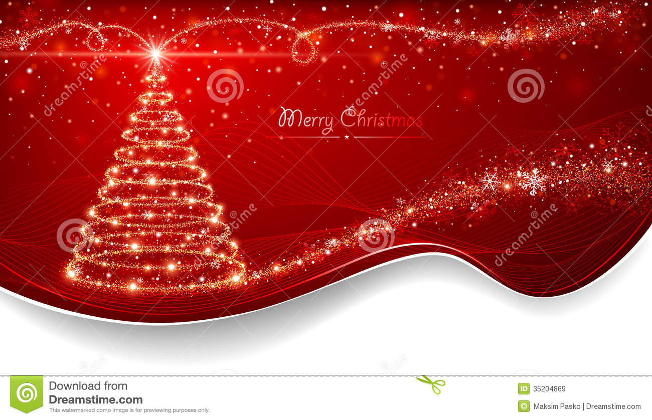 Magic Christmas Tree Stock Vector Illustration Of Merry 35204869