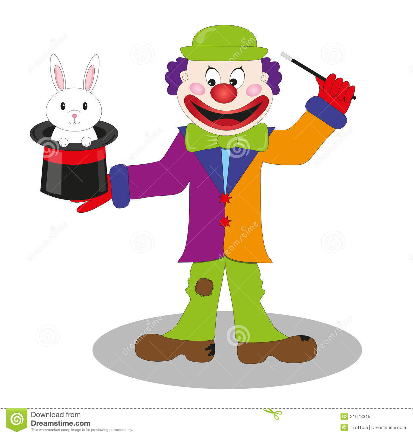 Magic Clown Vector Royalty Free Stock Photo Image 21673315