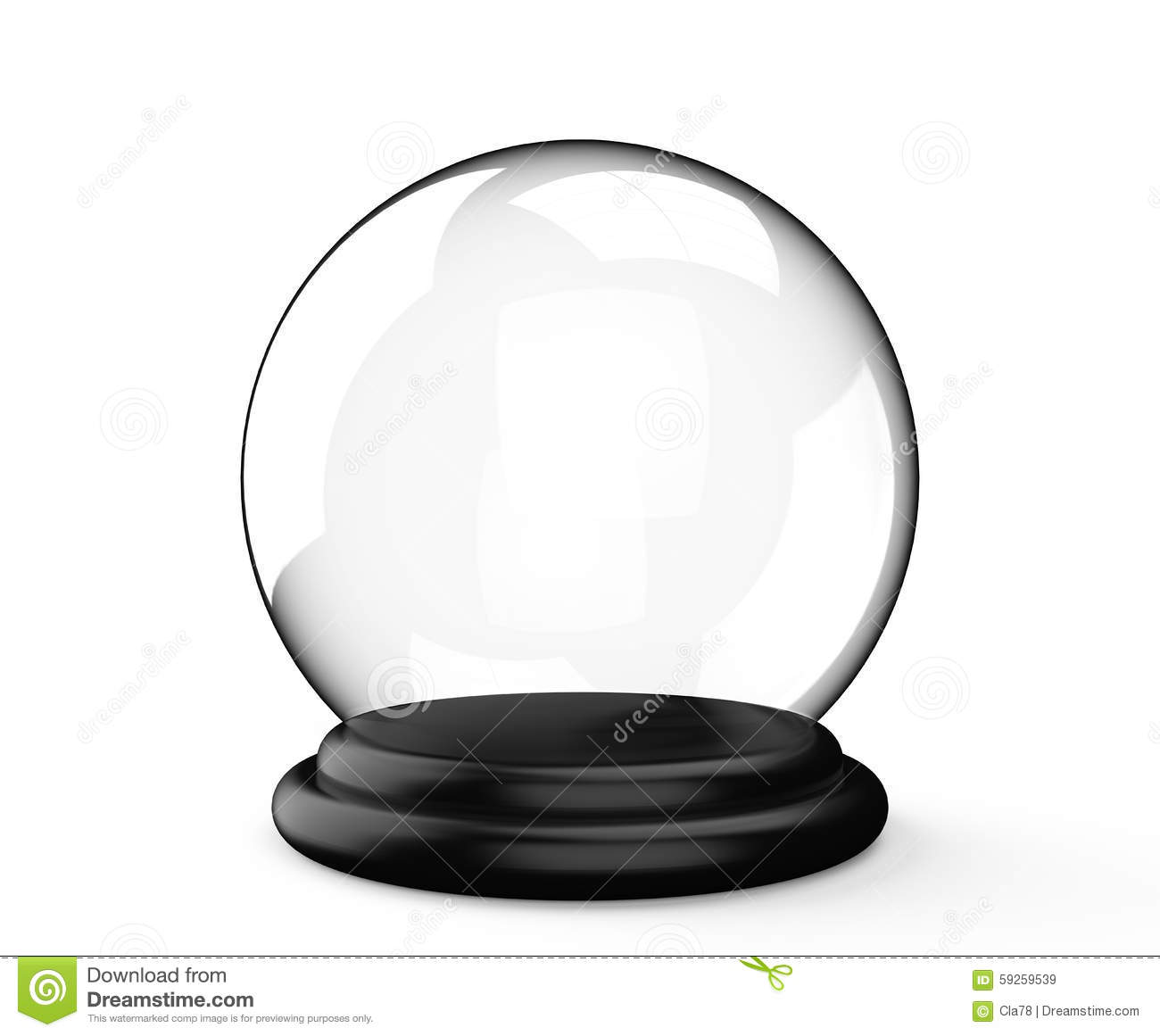 magic crystal ball on white background stock image image of crystal cosmic 59259539. Black Bedroom Furniture Sets. Home Design Ideas