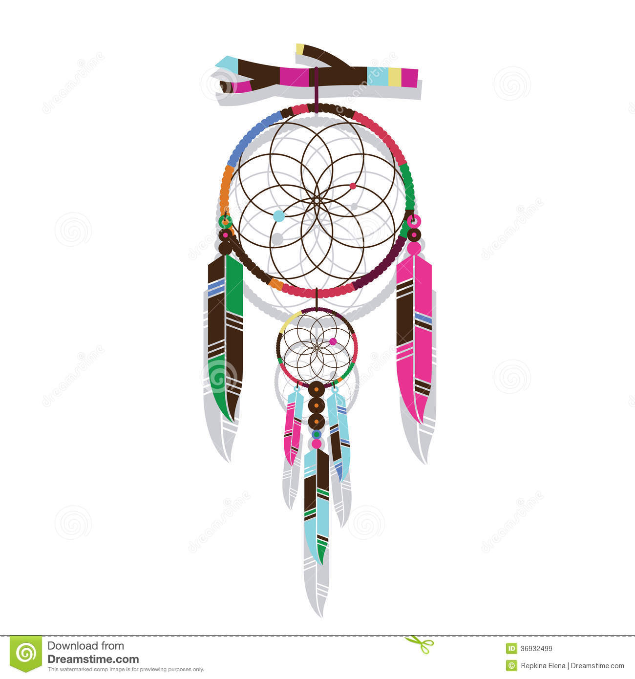 Magic dreamcatcher royalty free stock images image 36932499 for Dream catcher graphic