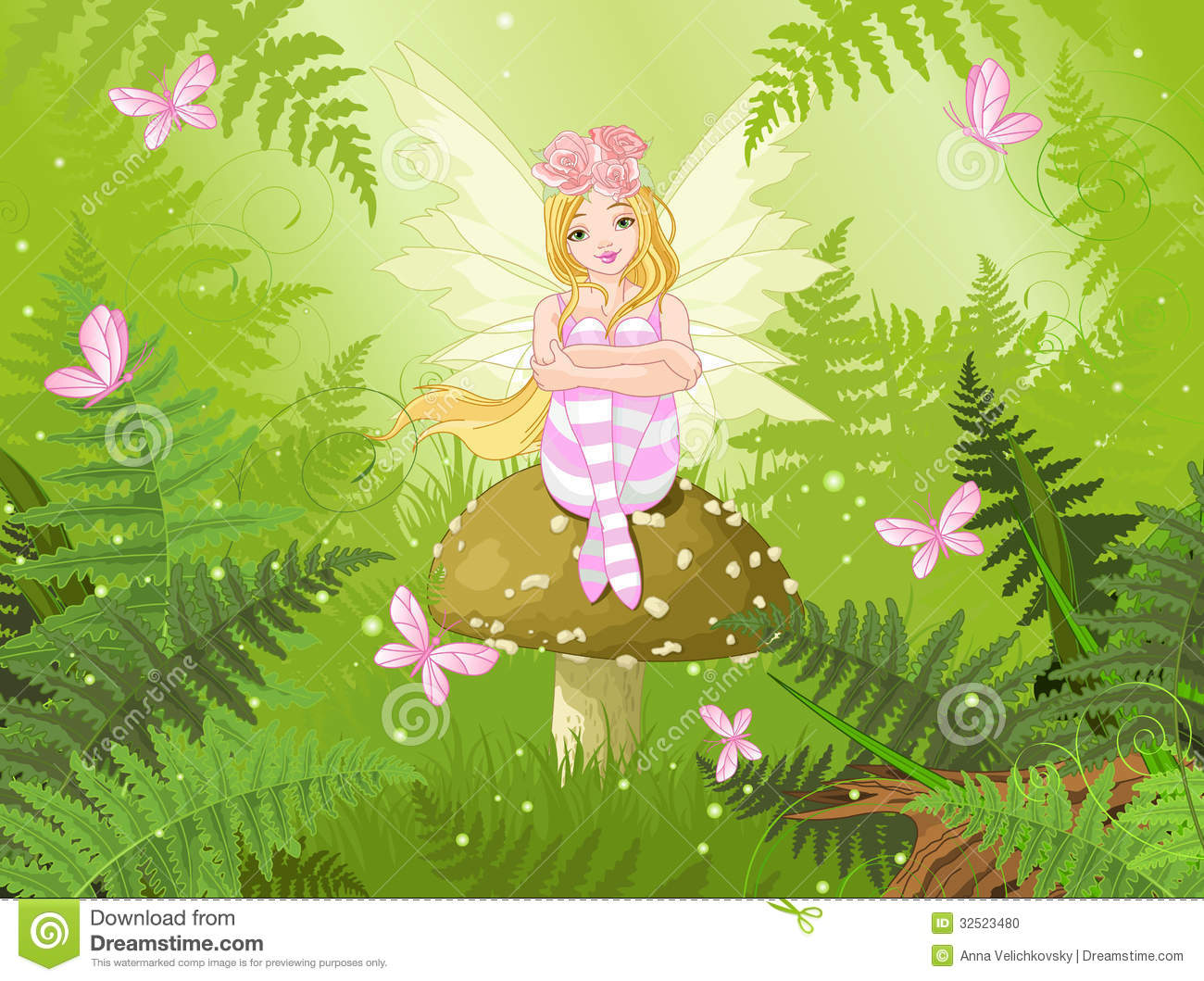 Magic Fairy In Forest ...