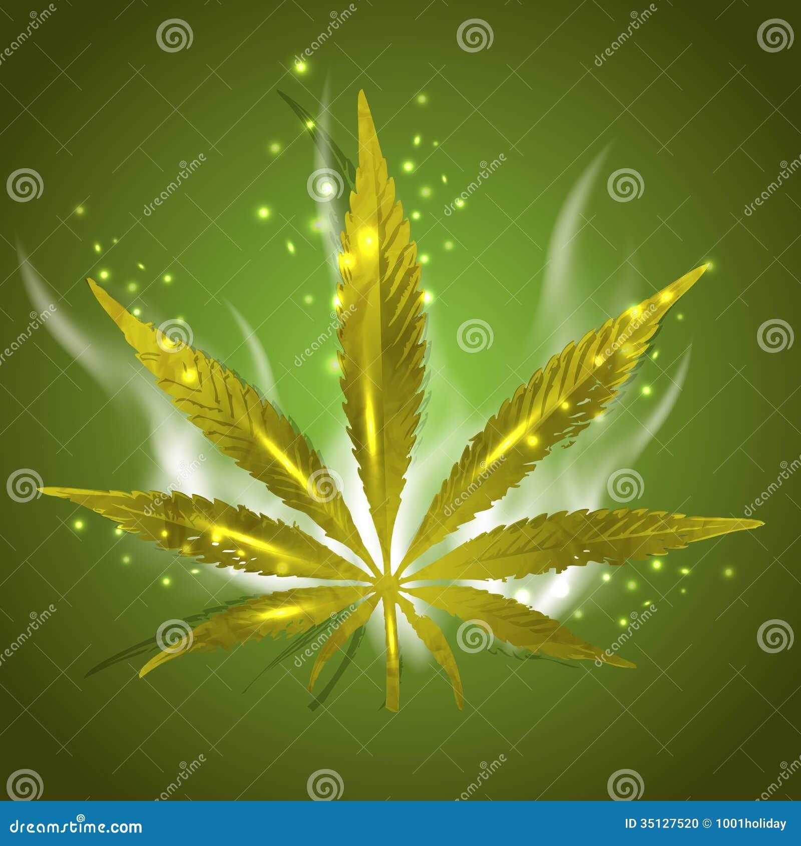 Magic Ganja Leaf Stock Photo Image 35127520
