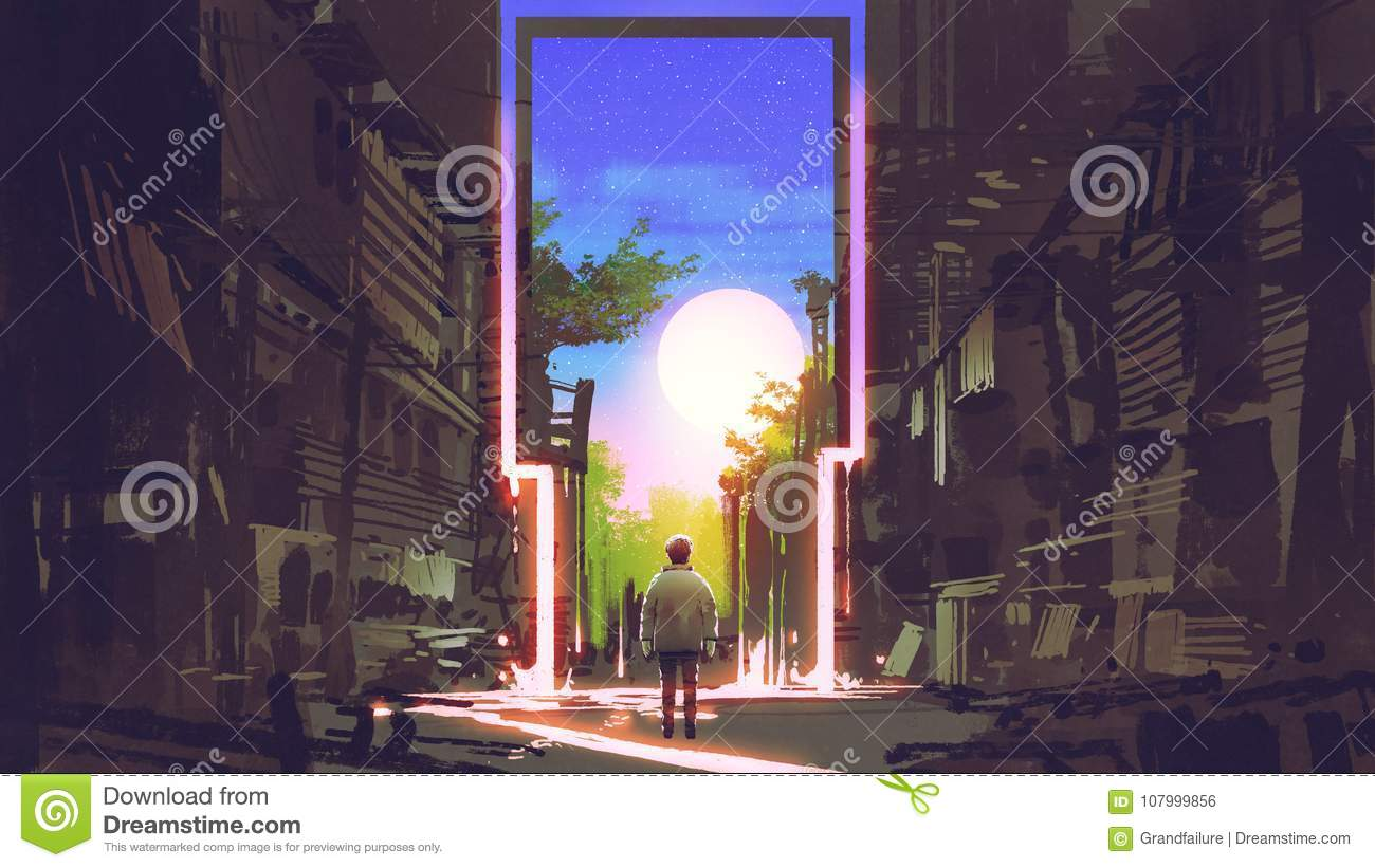The magic gate to beautiful place