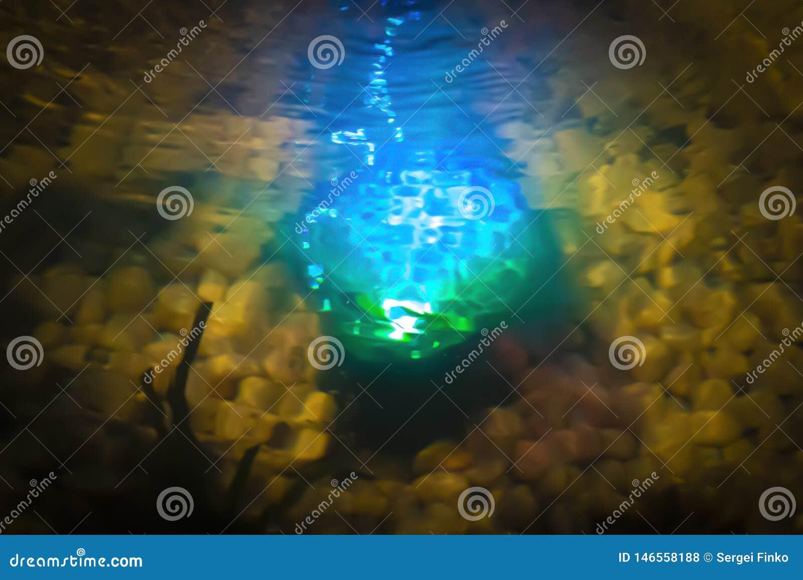 Magic glow in the water