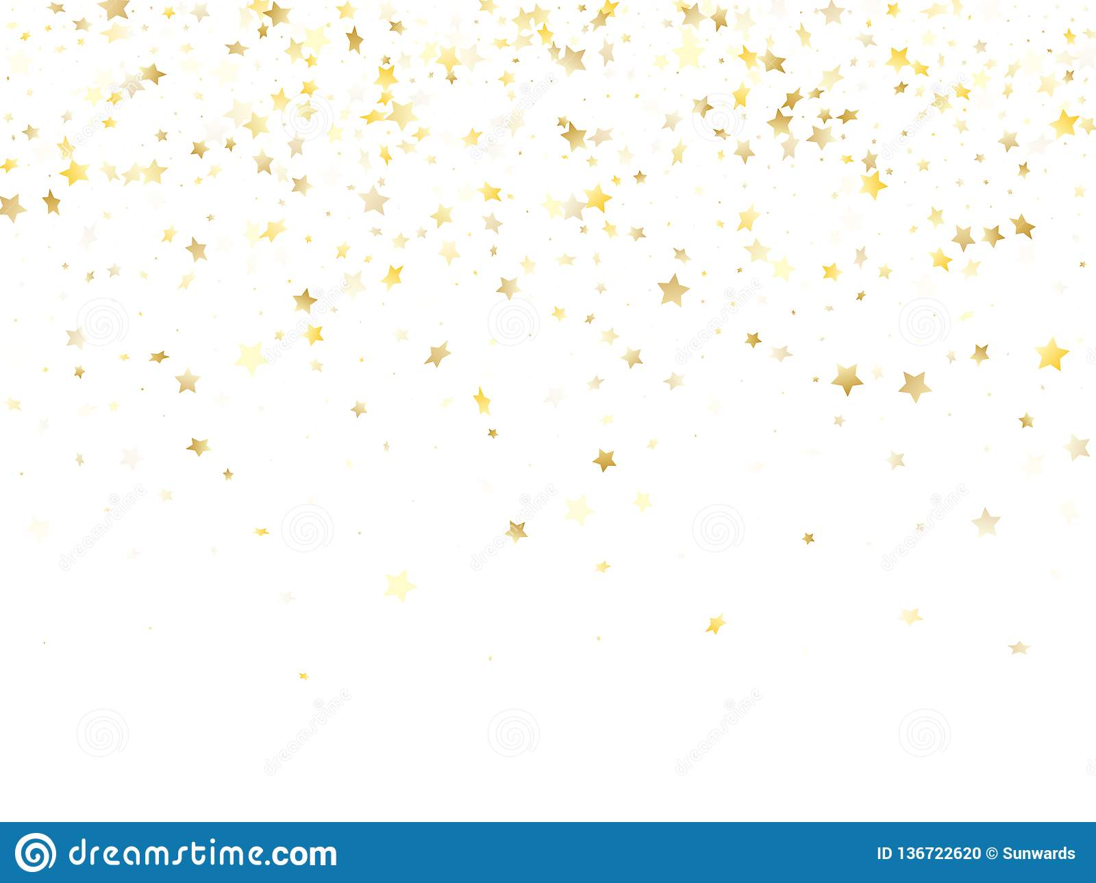 Magic Gold Sparkle Texture Vector Star Background  Stock Vector