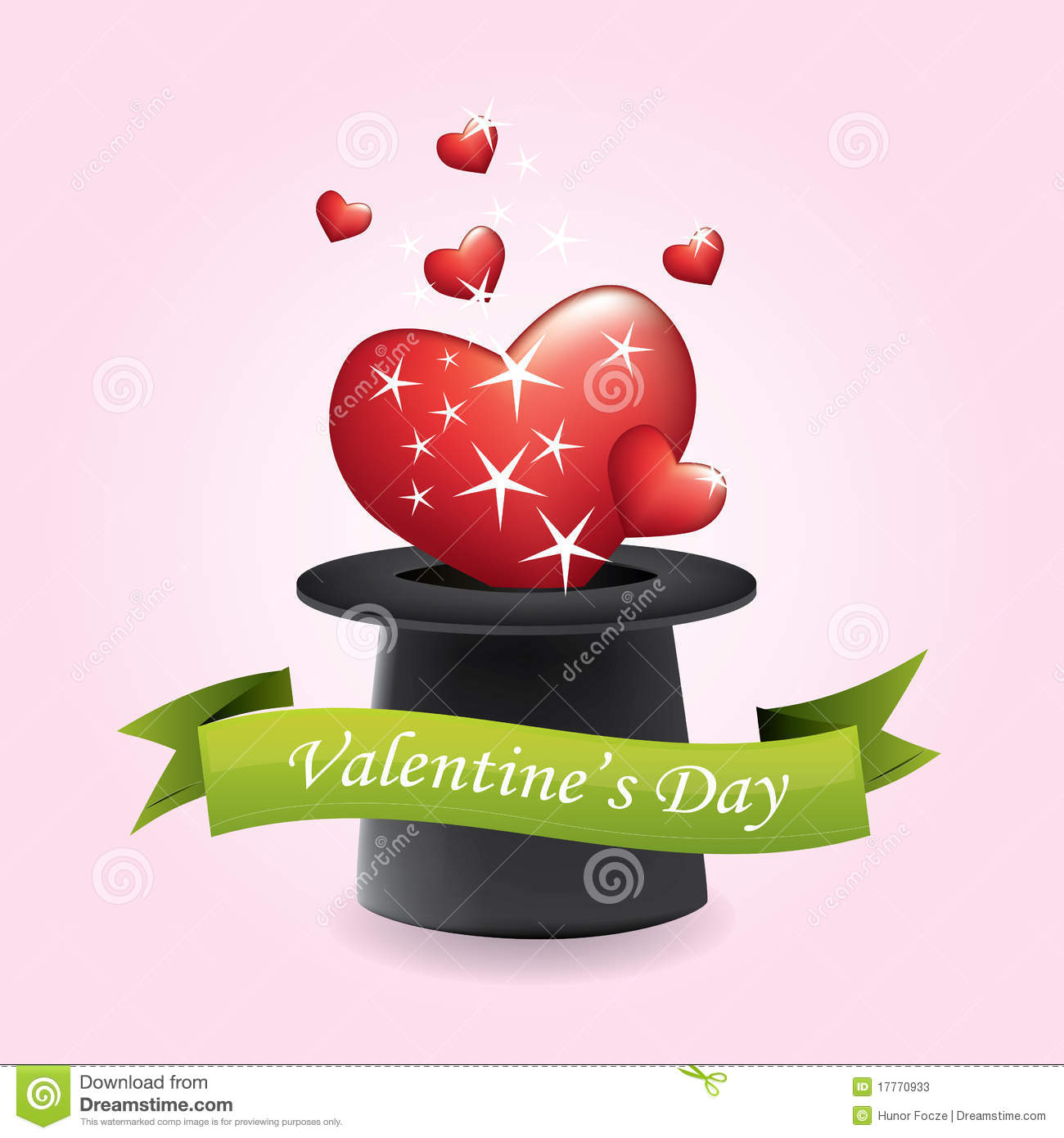 fc8a41aa247 Magic Hat And Hearts - Valentine s Day Stock Vector - Illustration ...